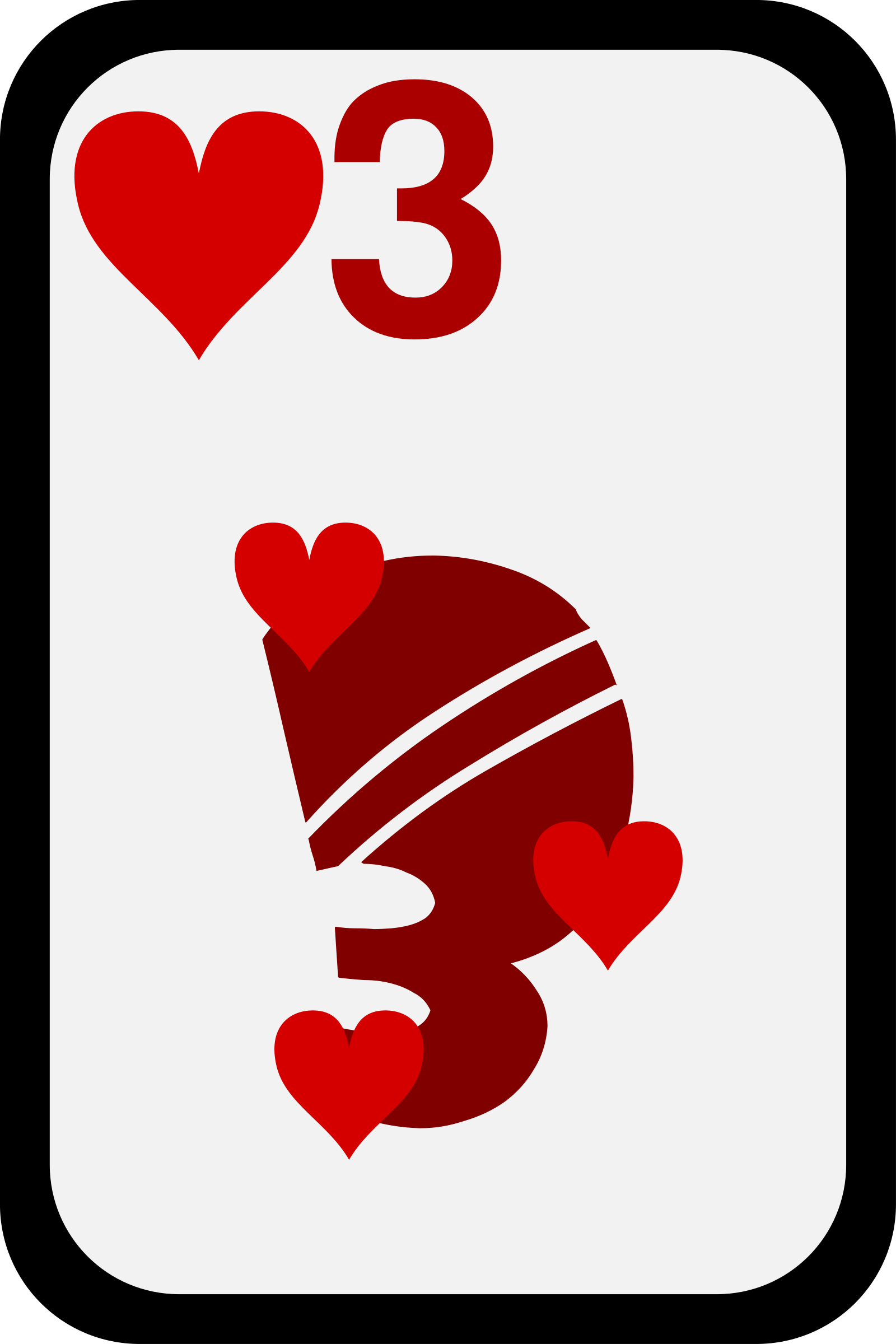 Three of Hearts by momoko