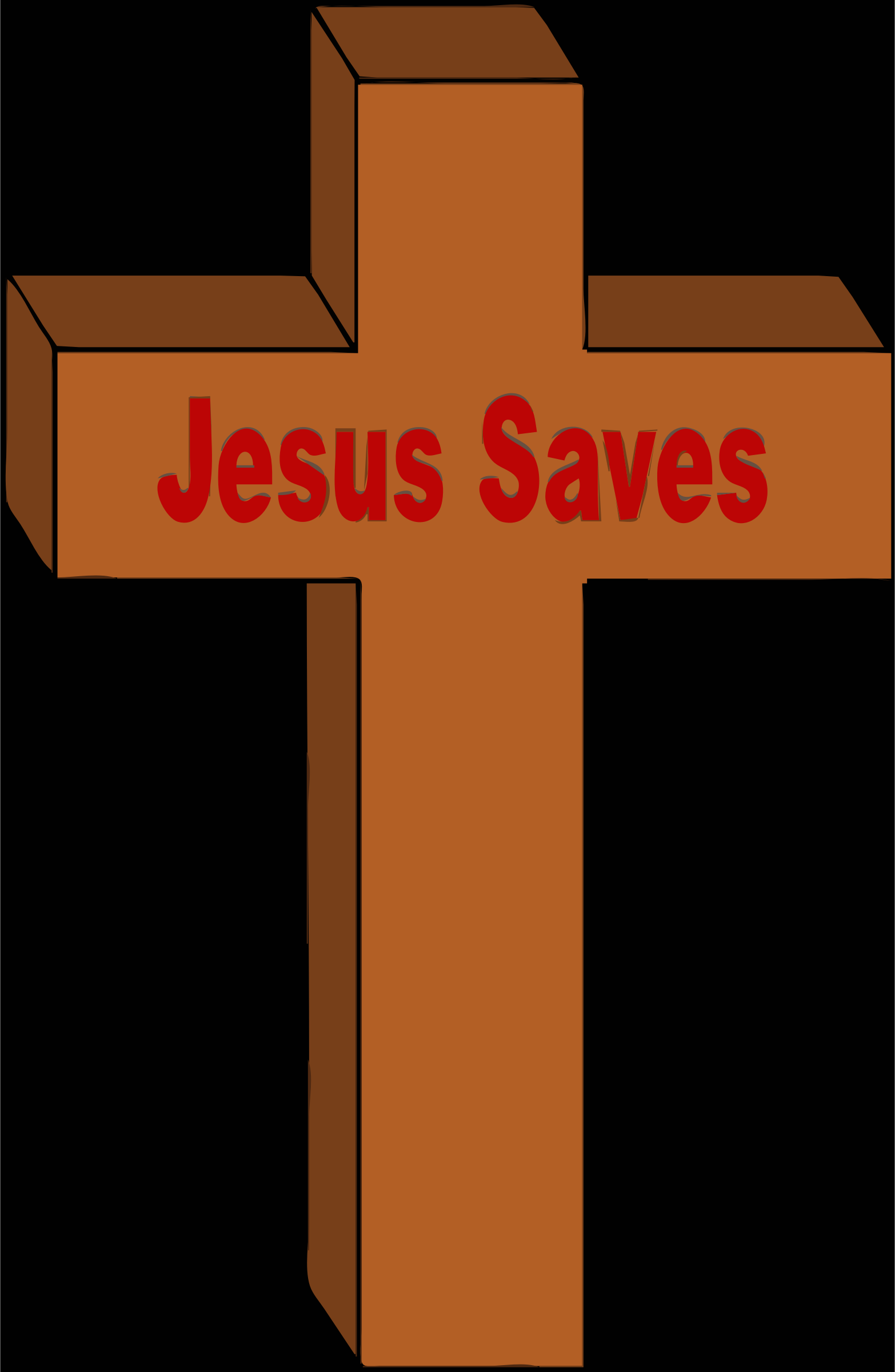 christian cross jesus saves by barnheartowl