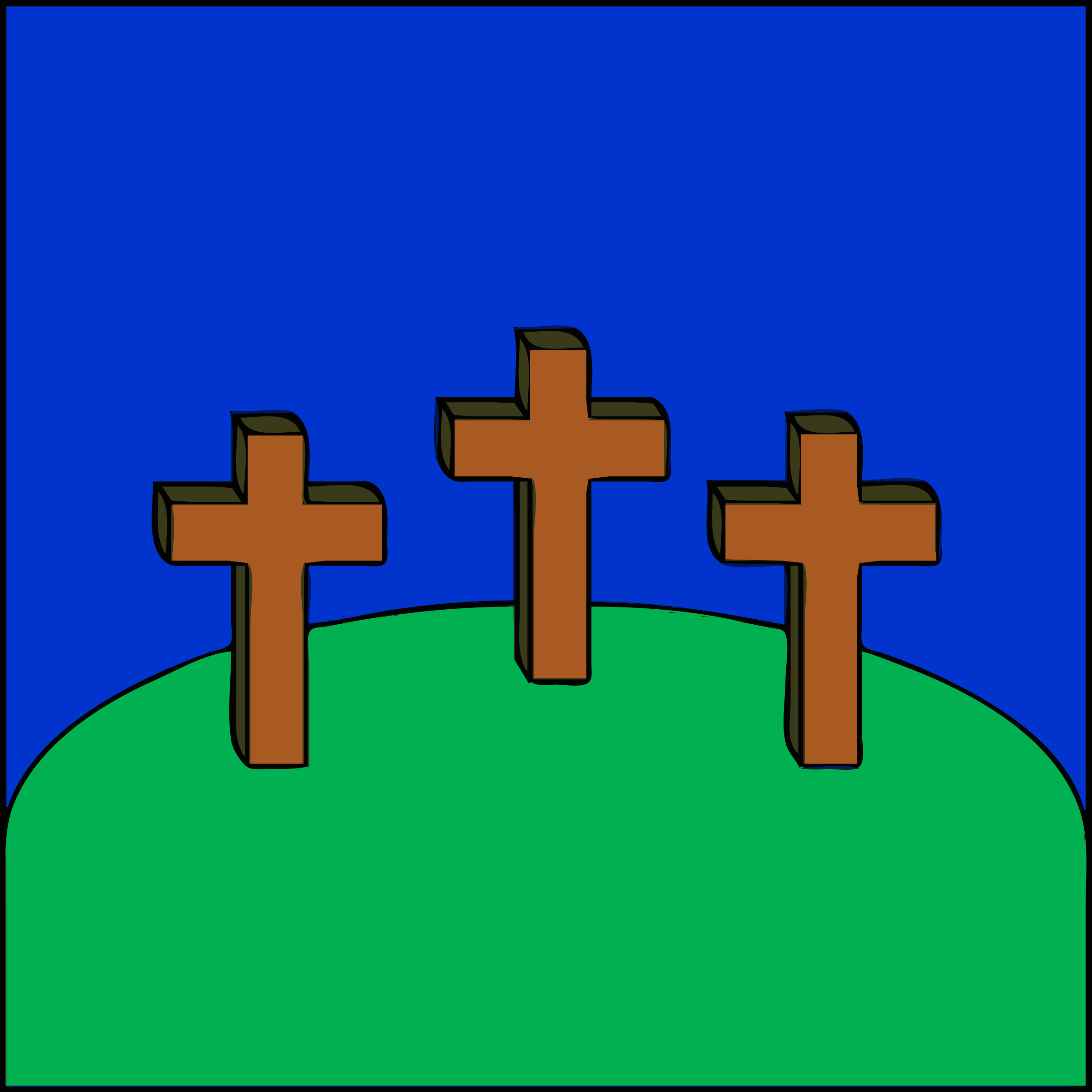 3 crosses on a hill by barnheartowl