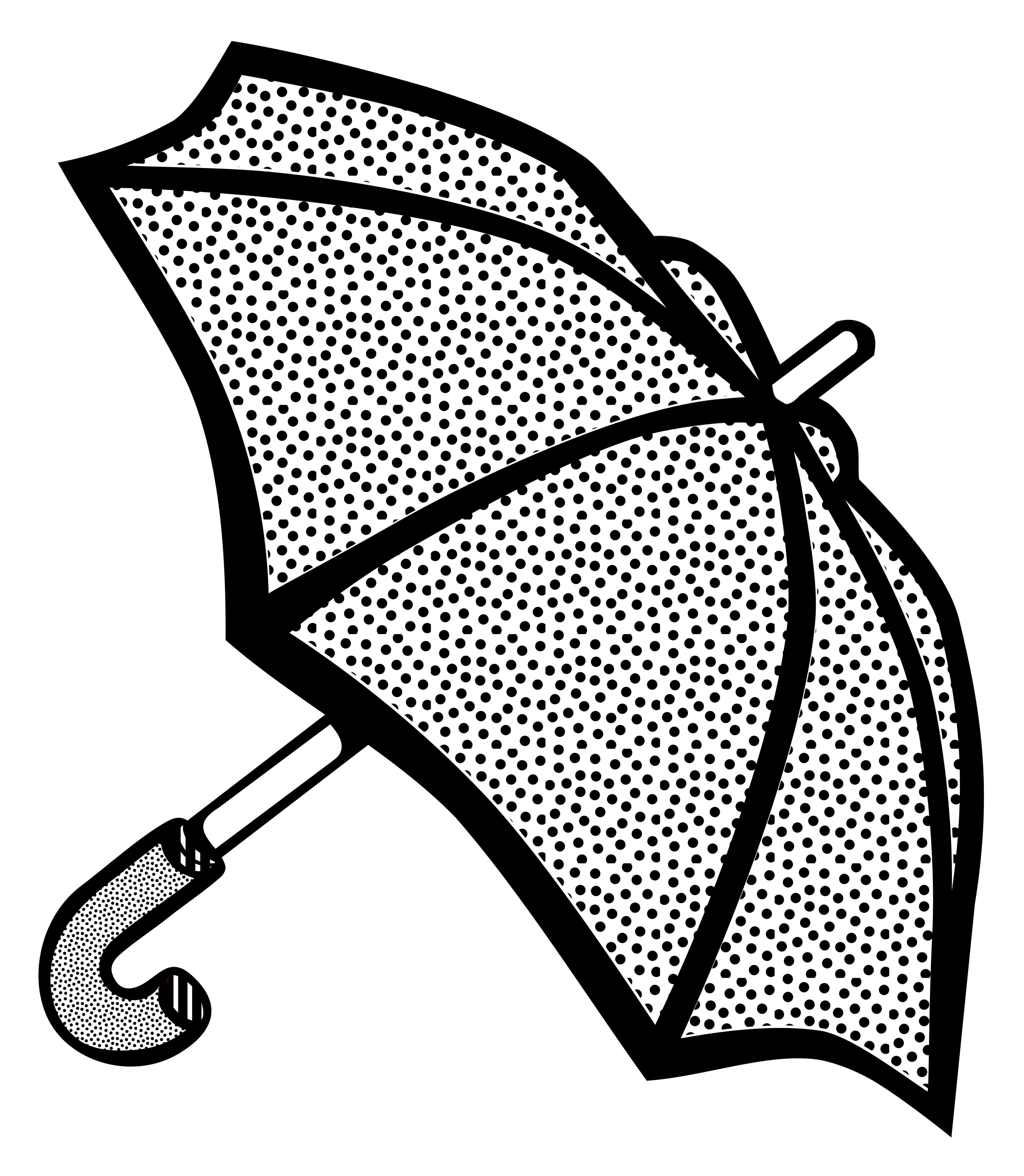 umbrella - lineart by frankes