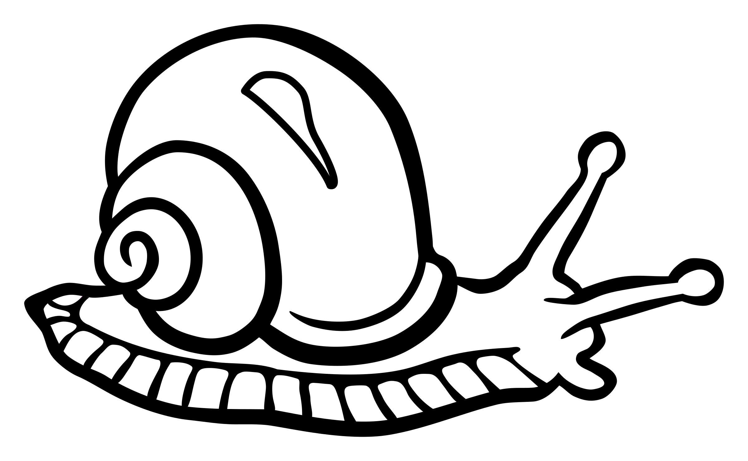 snail - lineart by frankes