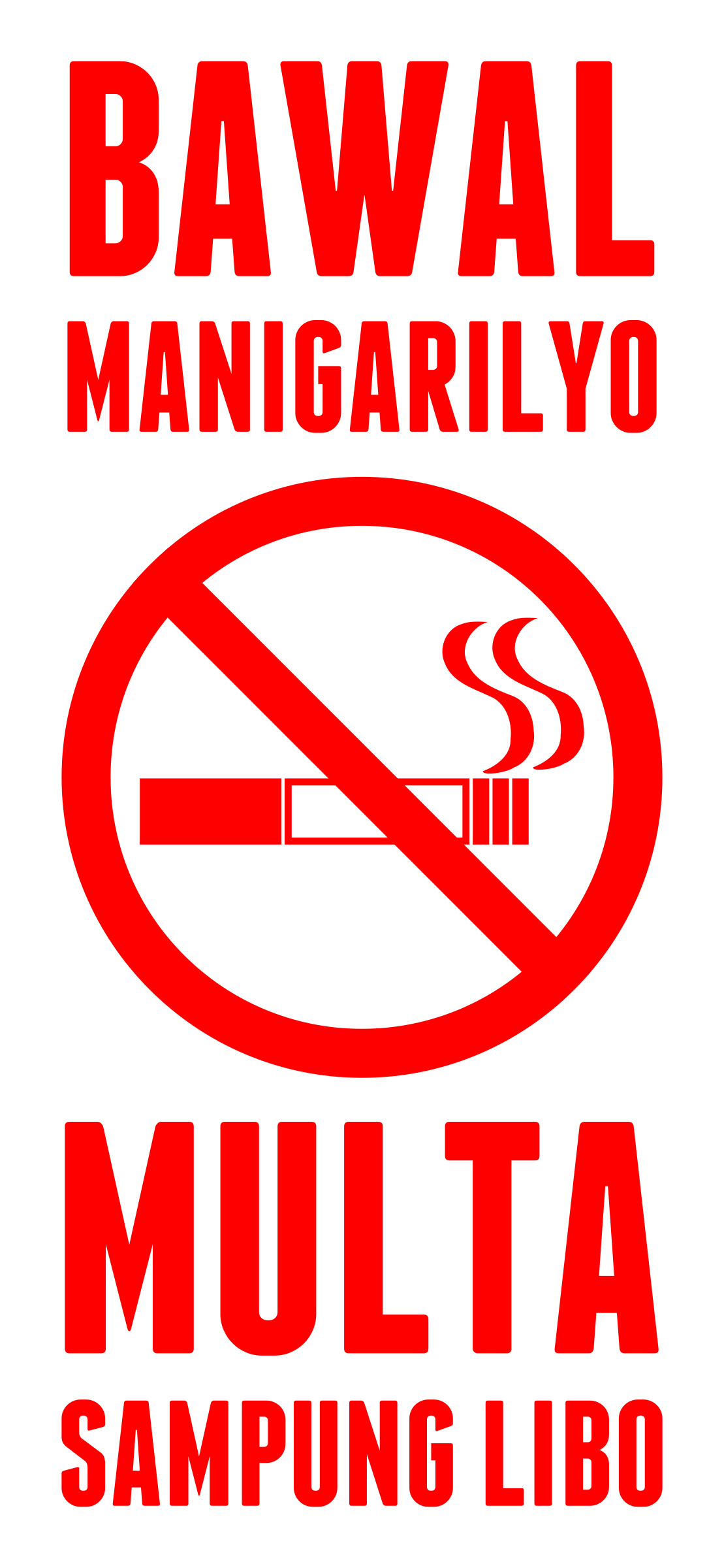 No Smoking Sign (Filipino) by tuxwrench