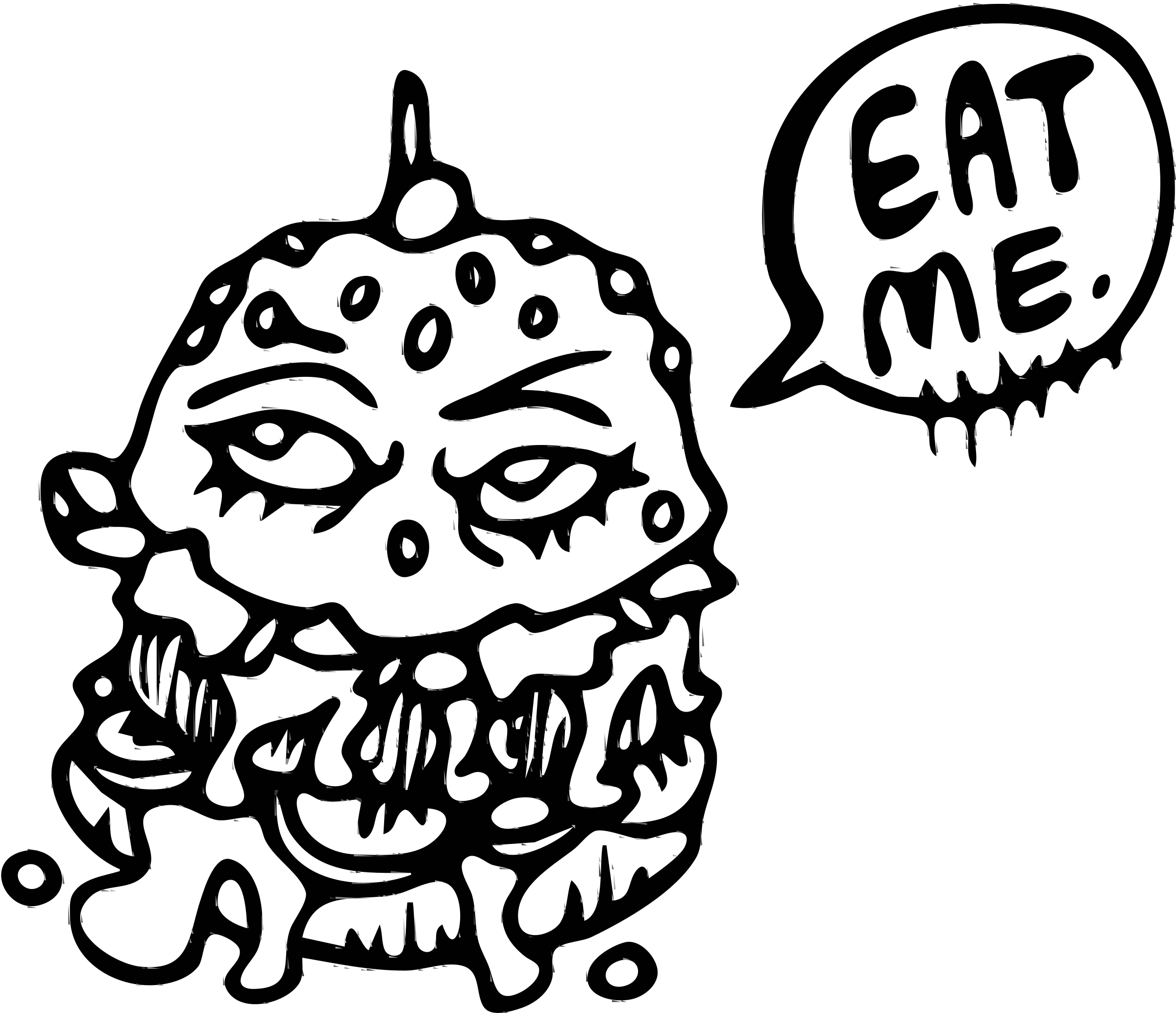 Eat This Burger (black and white) by Ghost Guts