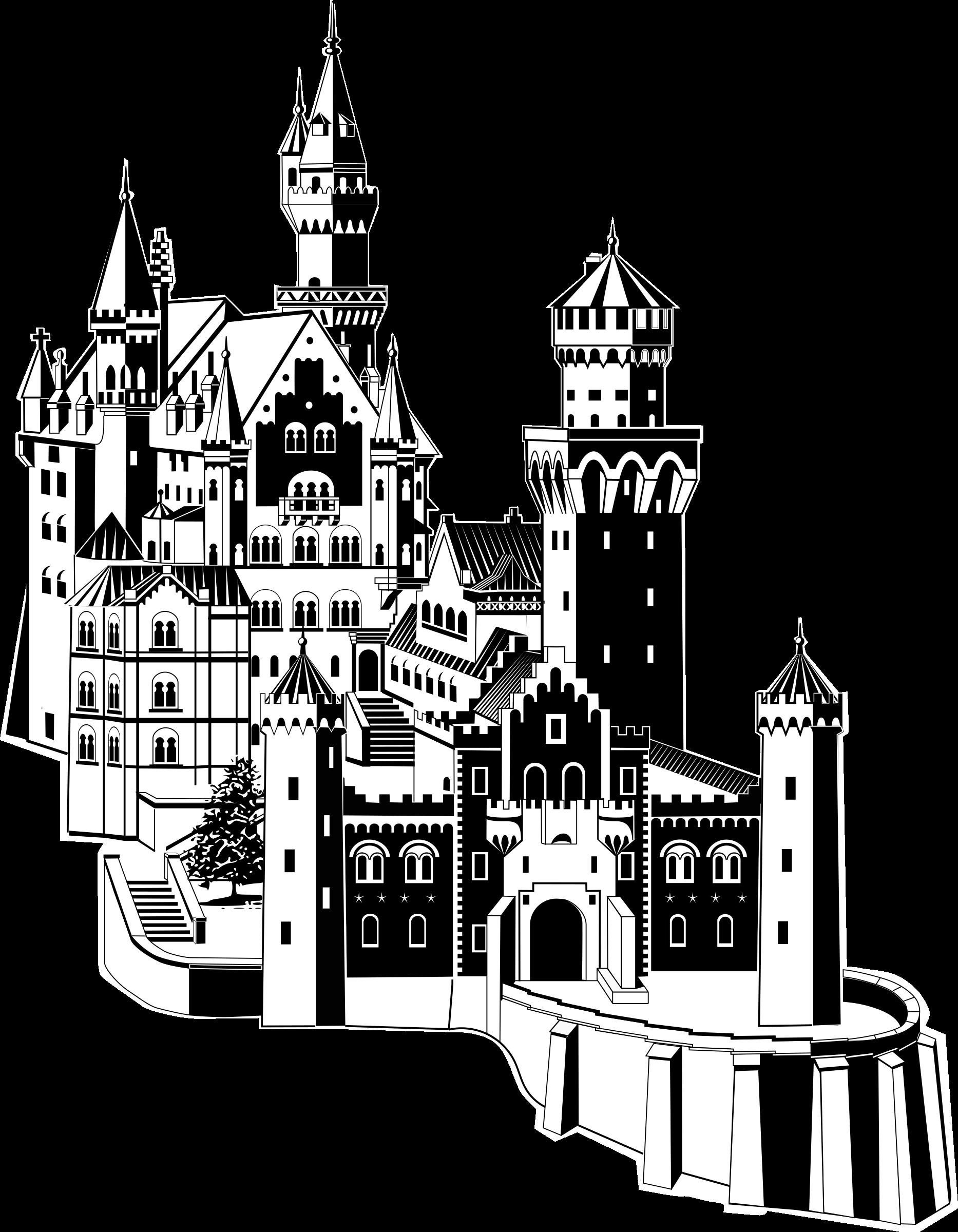 clipart neuschwanstein castle