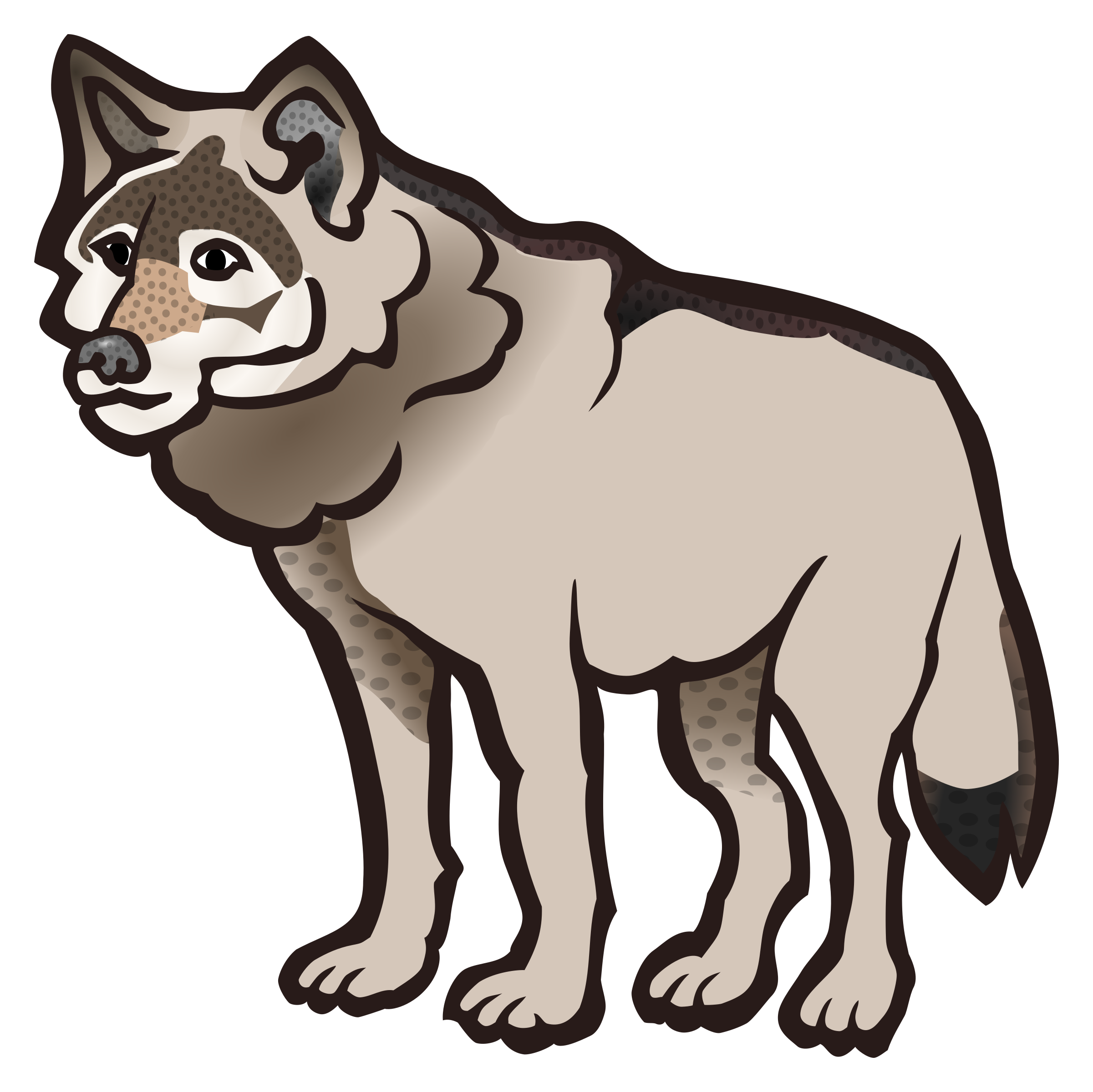 wolf - coloured by frankes