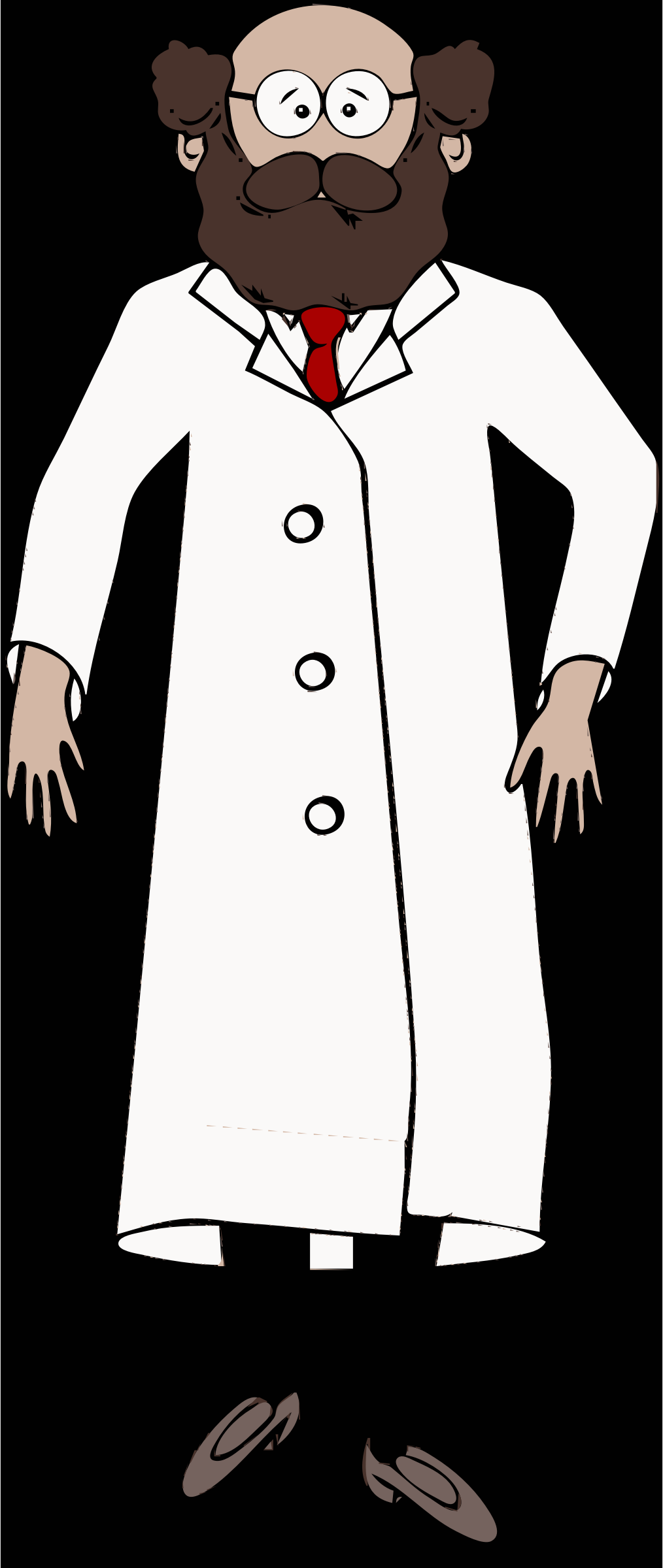 lab coat worn by scientist with brown beard by barnheartowl