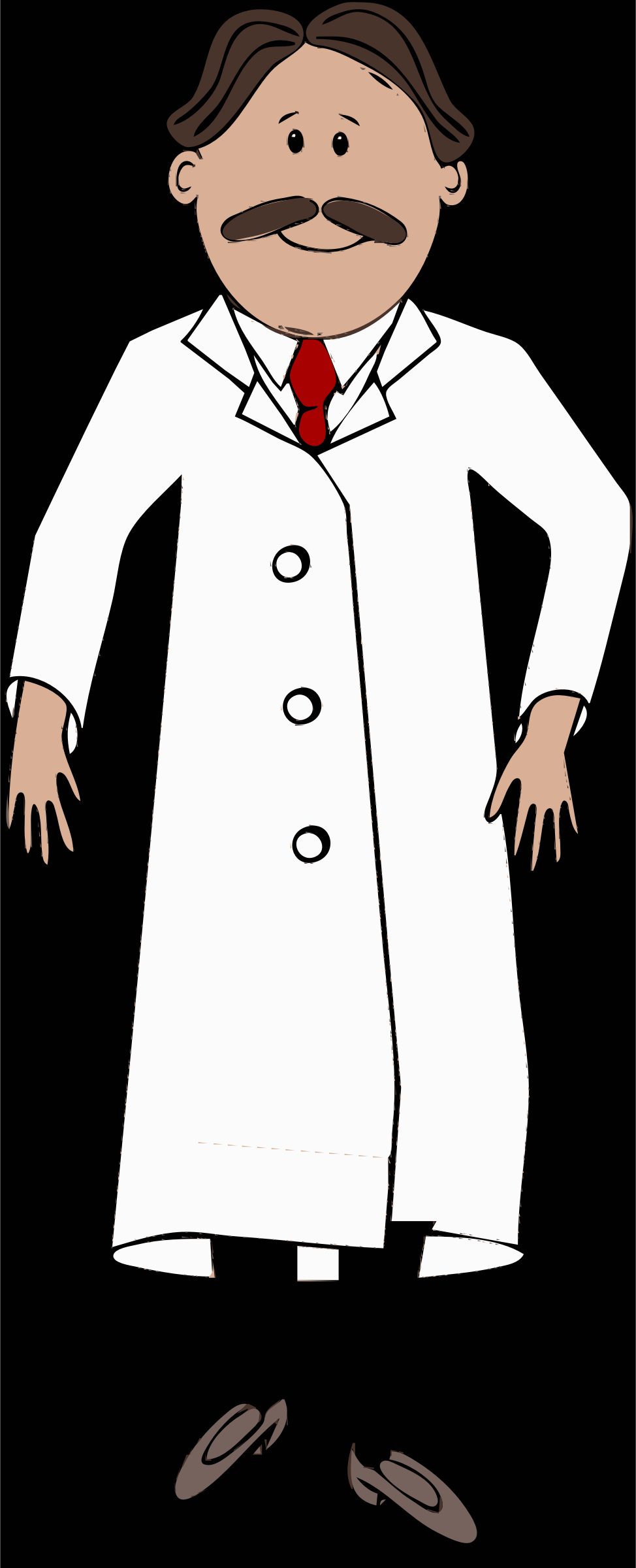 lab coat worn by scientist with mustache by barnheartowl