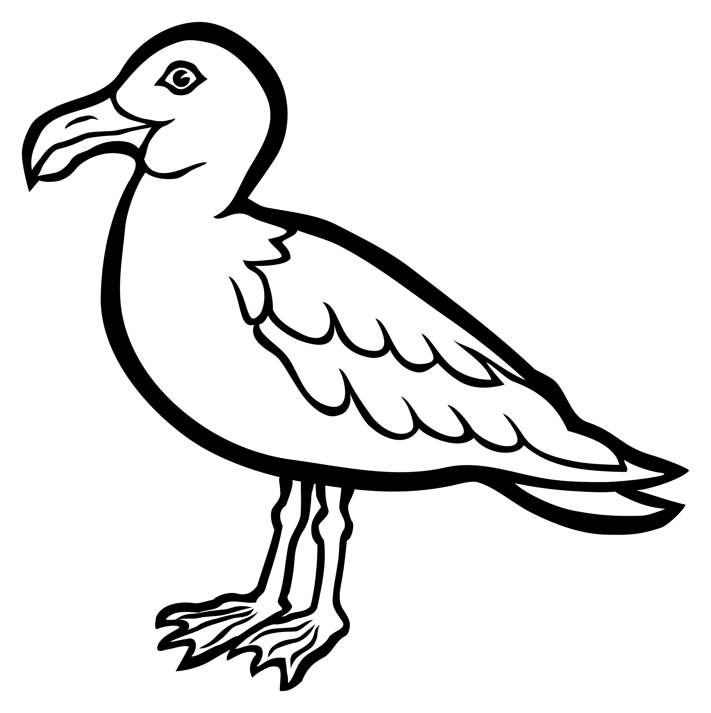 gull - lineart by frankes