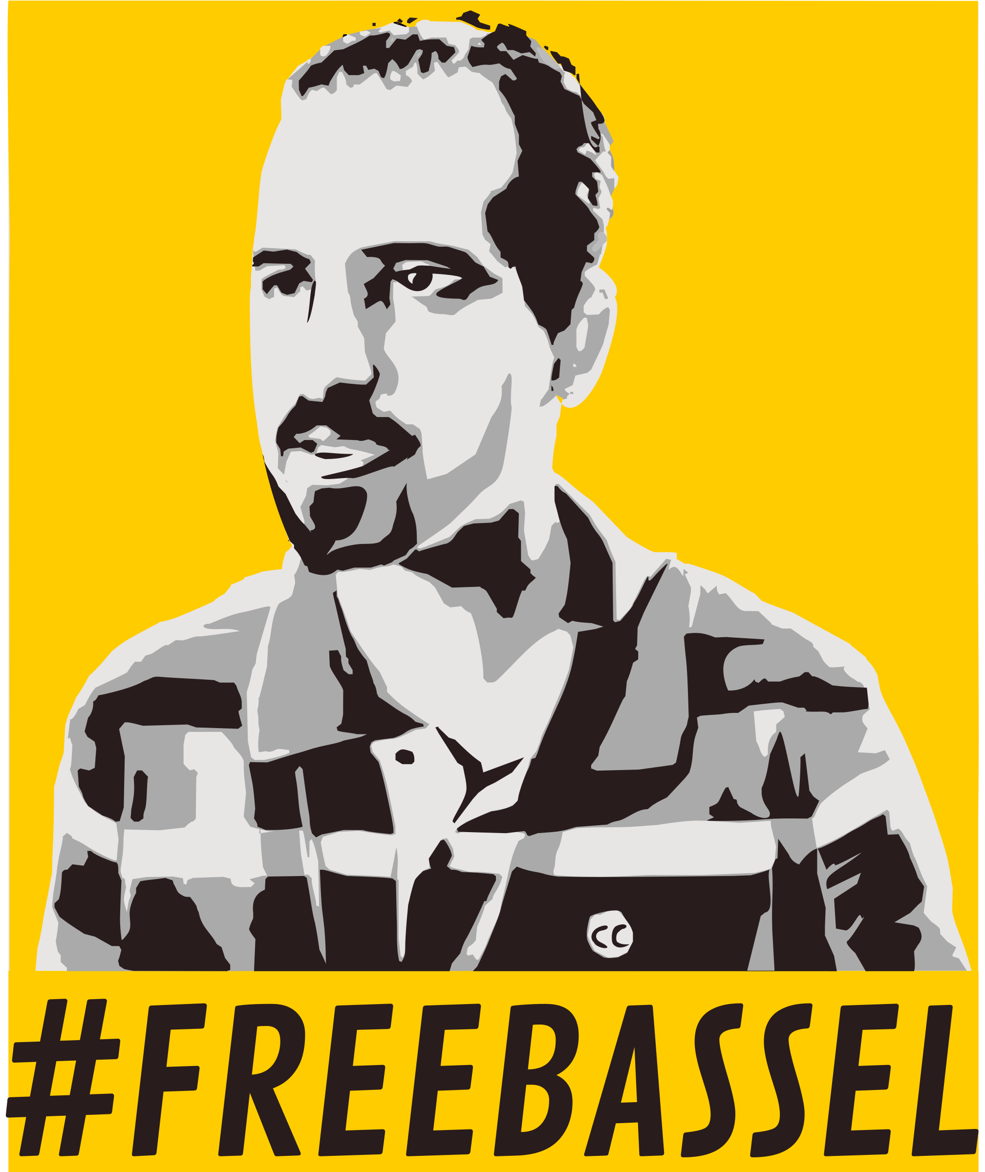 Freebassel yellow poster by dominiquechappard