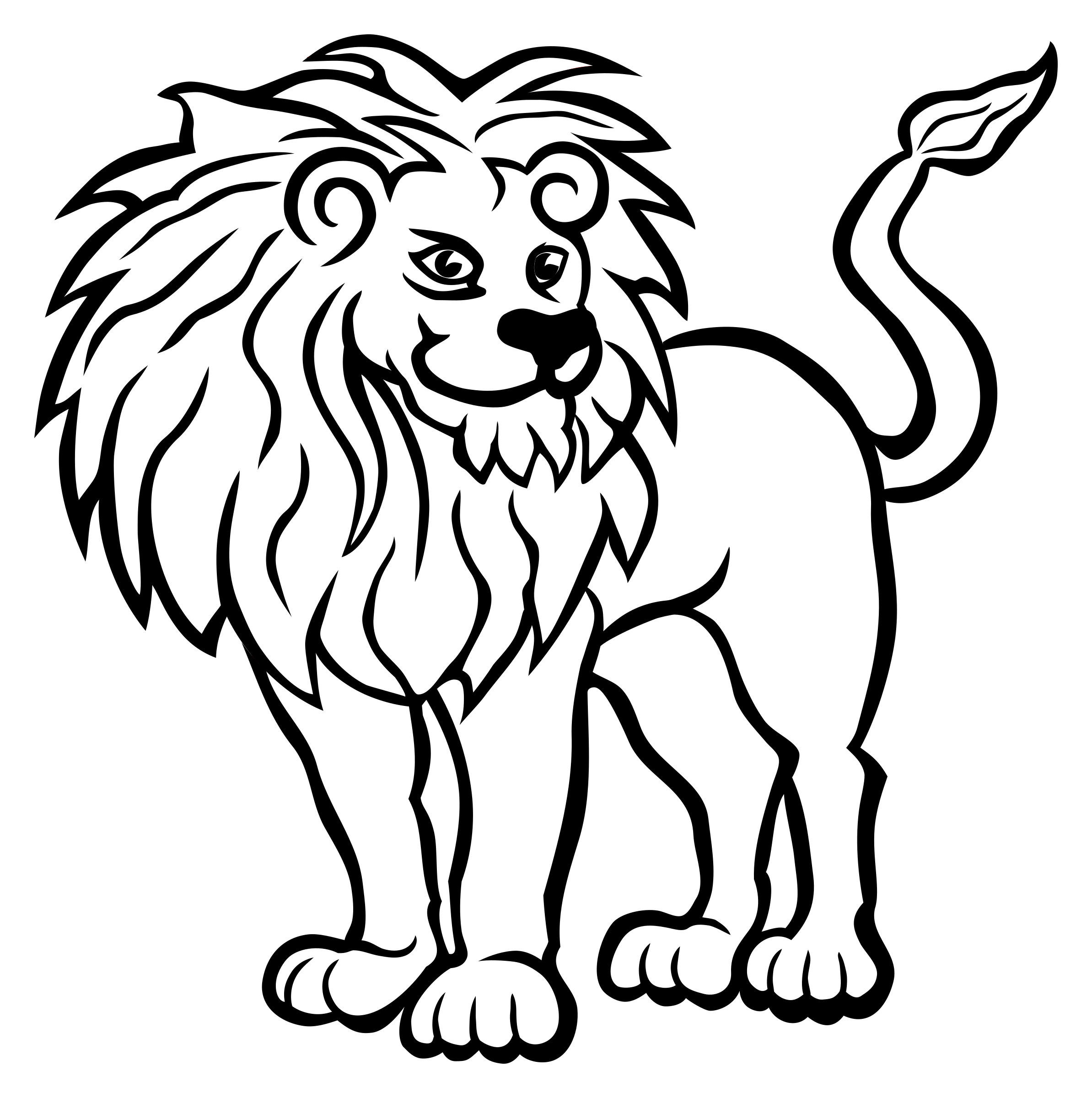 lion - lineart by frankes