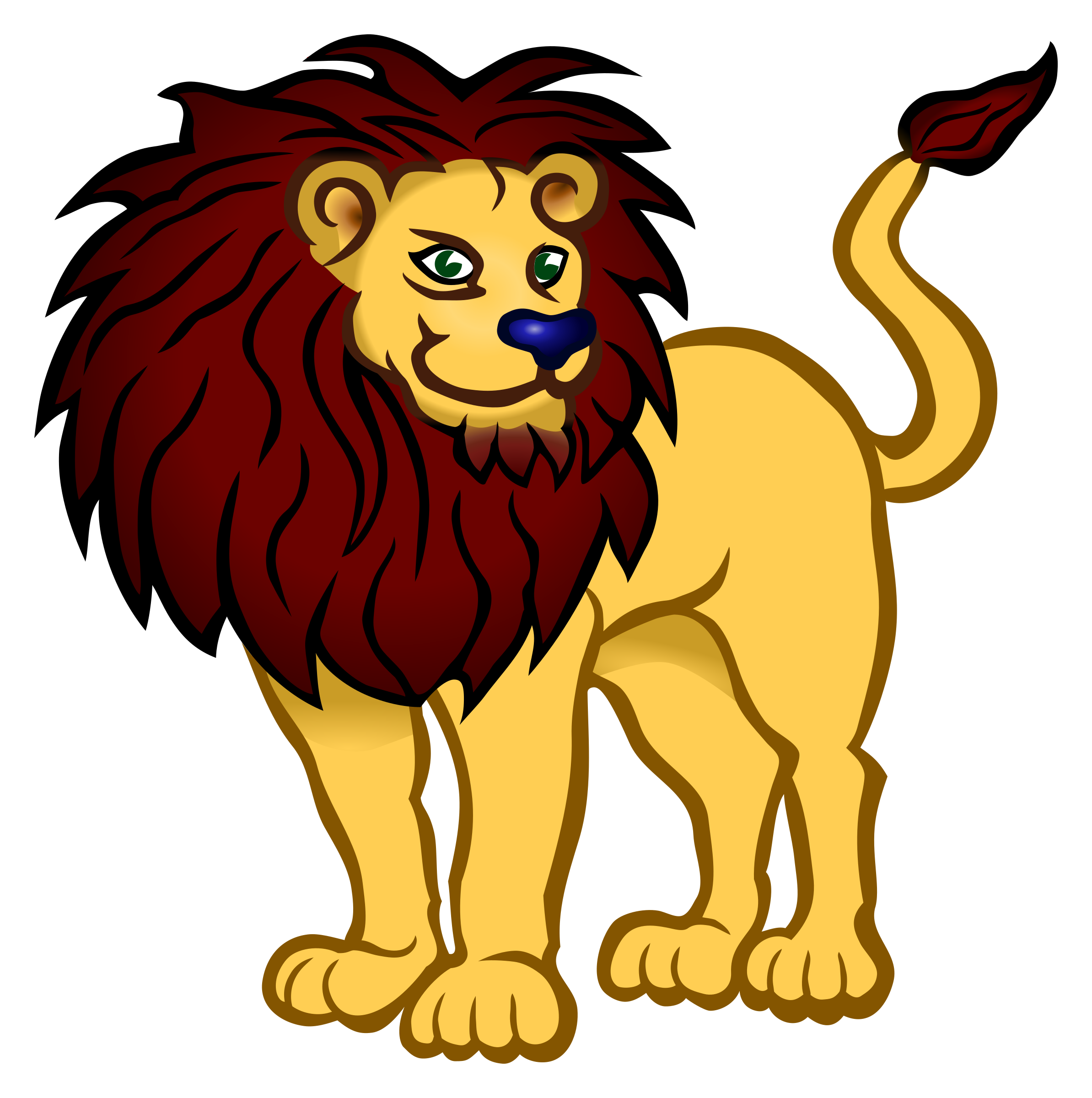 Clipart - lion - coloured