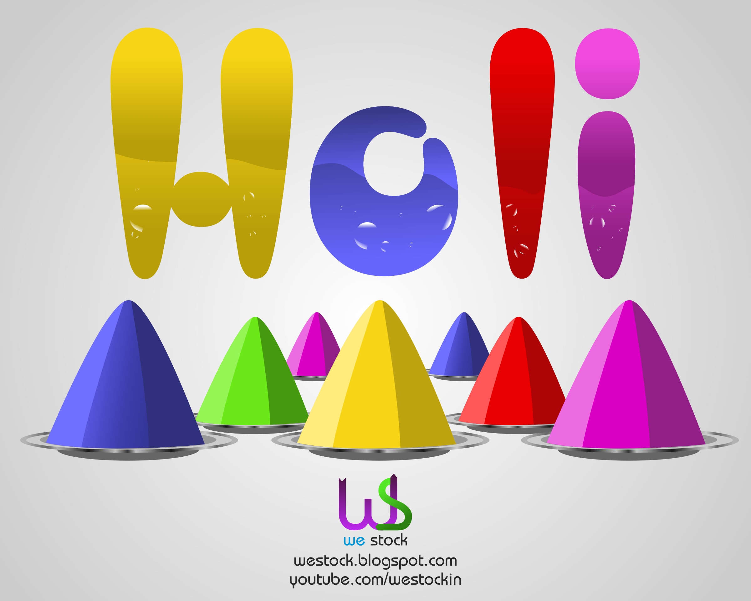 clipart holi with multiple colors