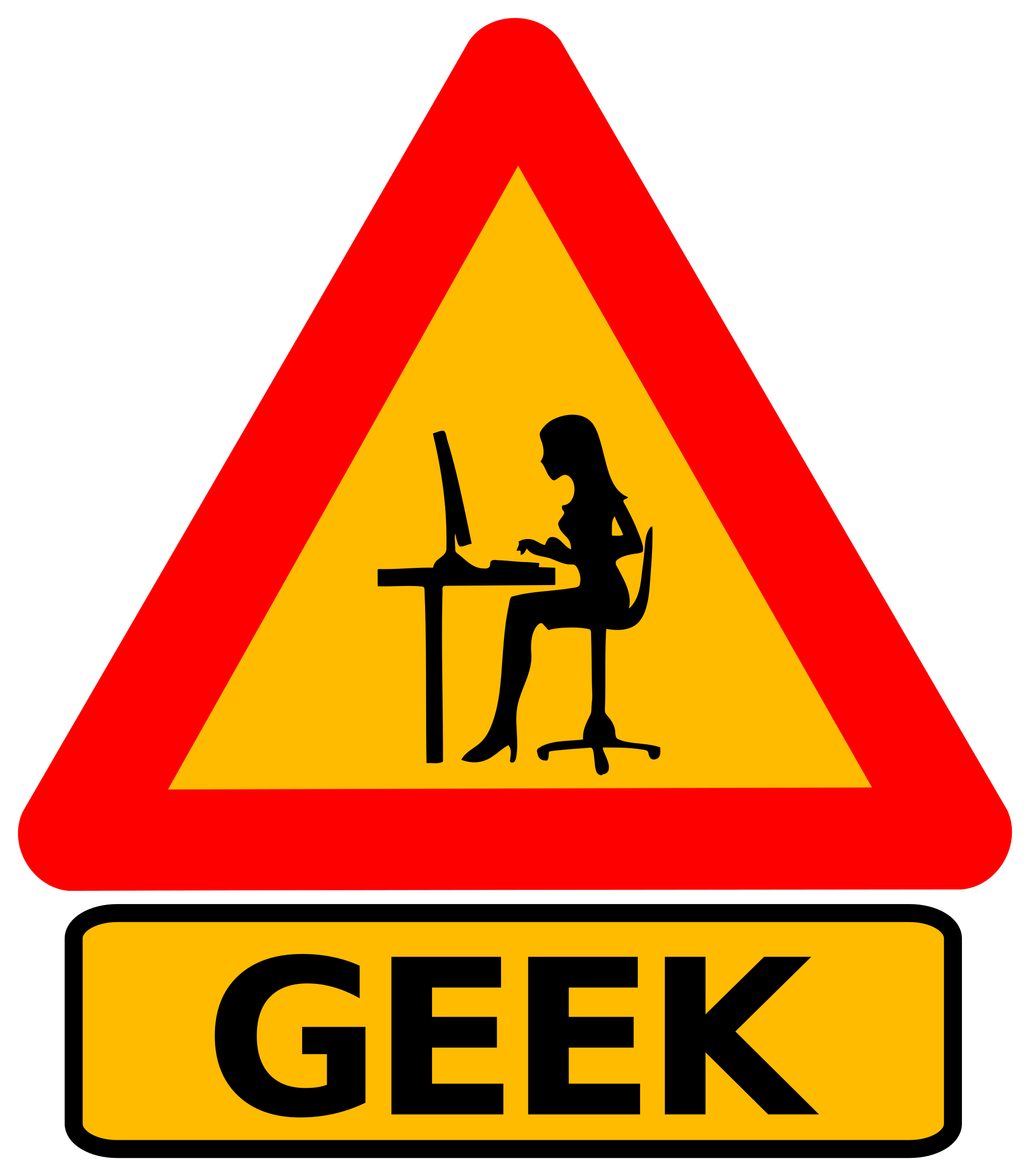 Warning geek woman by dominiquechappard