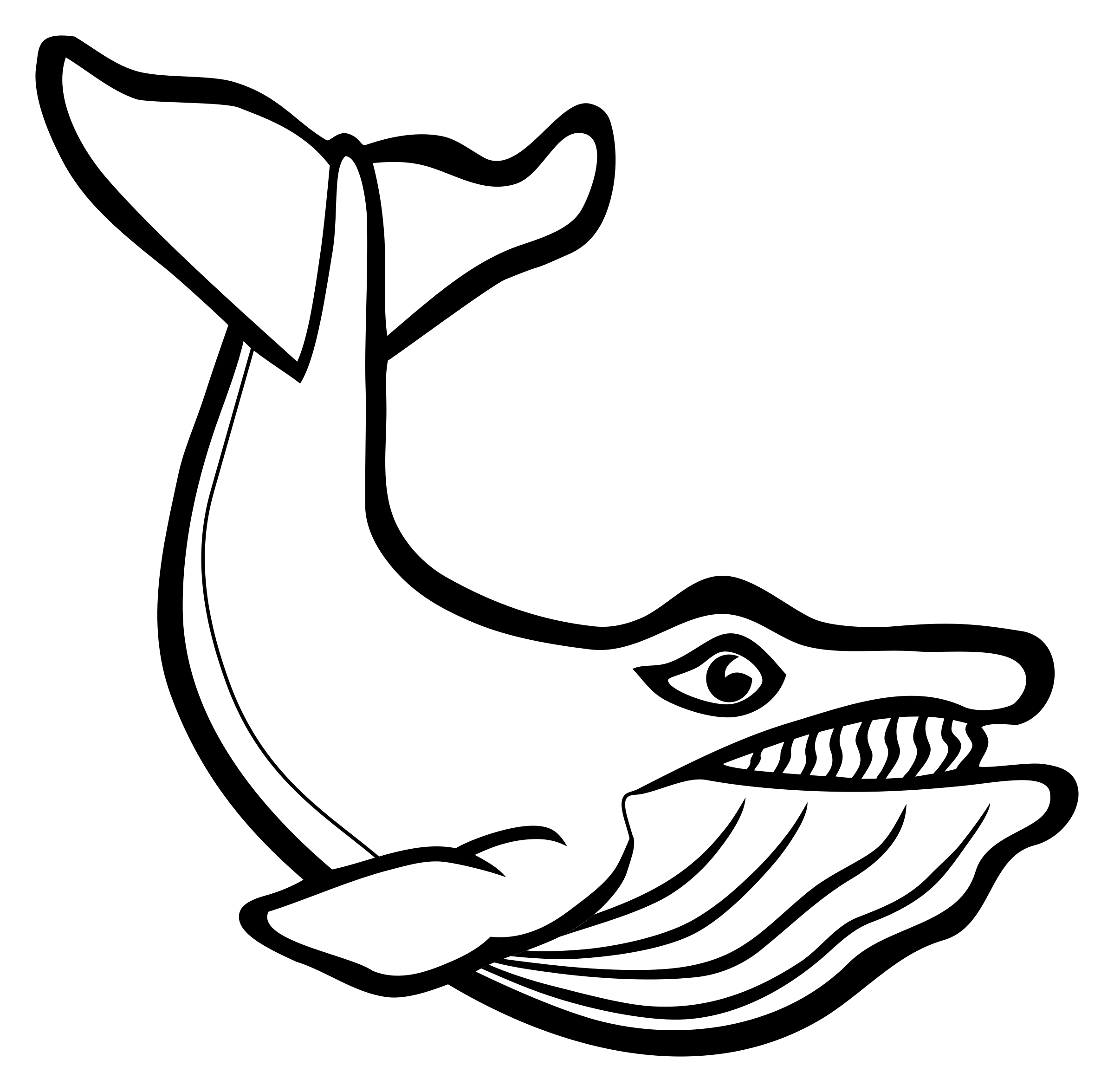 whale - lineart by frankes
