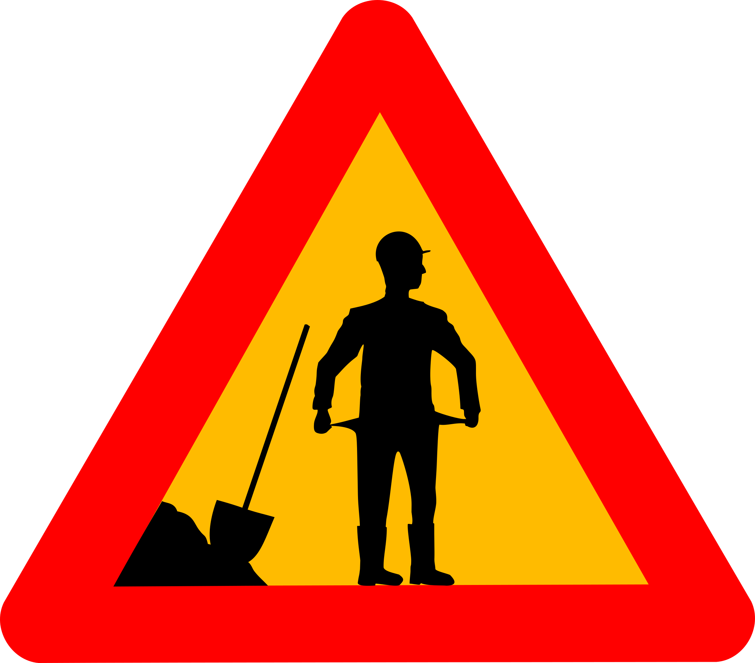 Clipart - Warning crisis