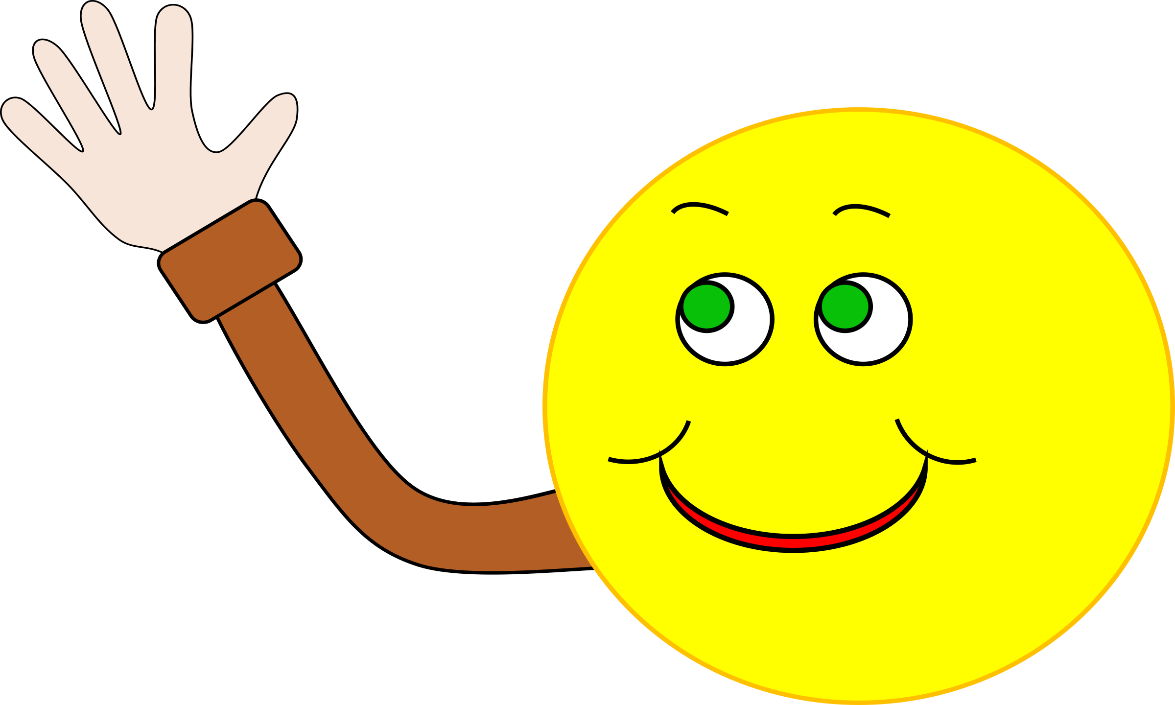 The gallery for --> Cartoon Smiley Face Waving
