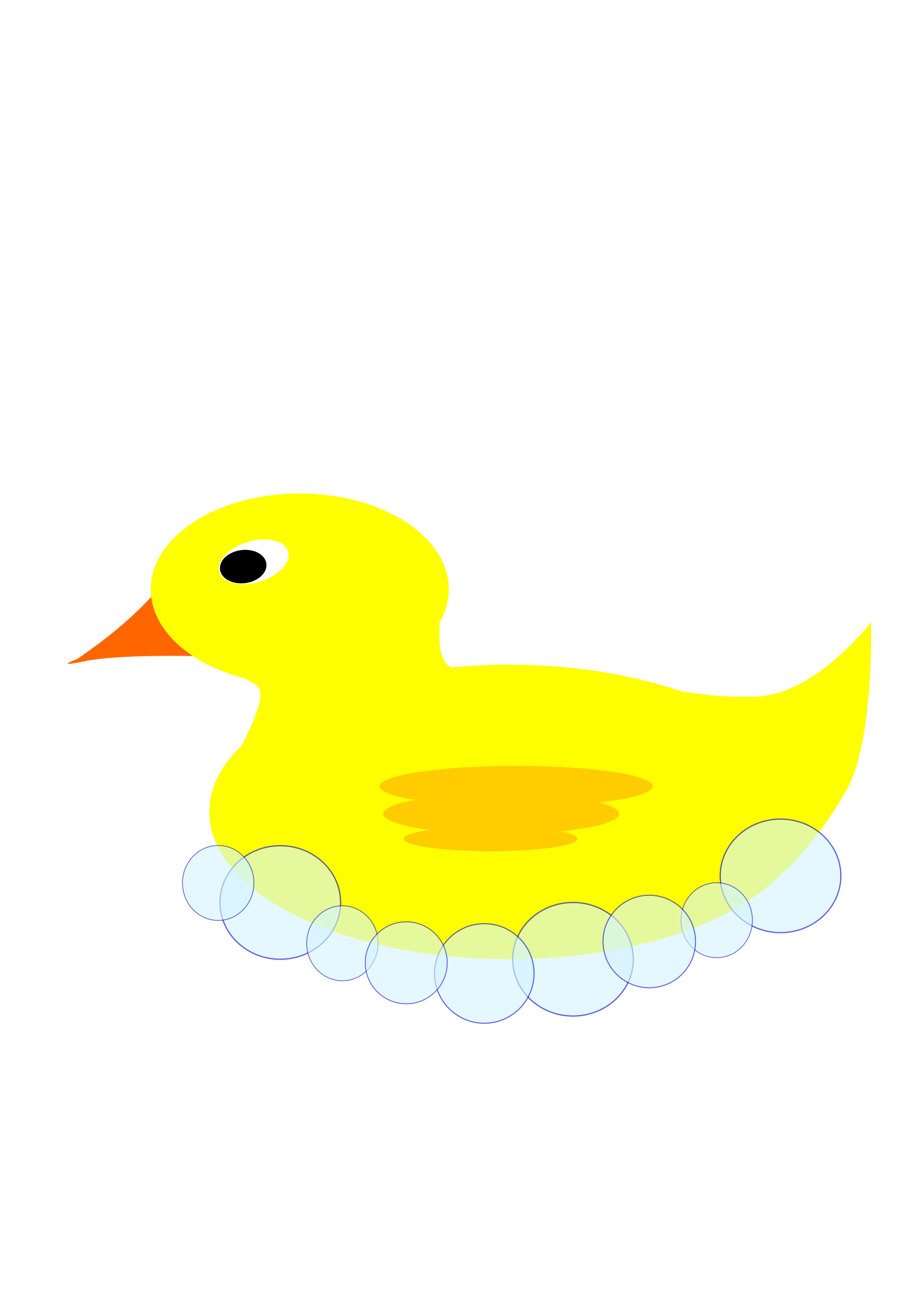 Rubber Ducky in bubbles by barnheartowl