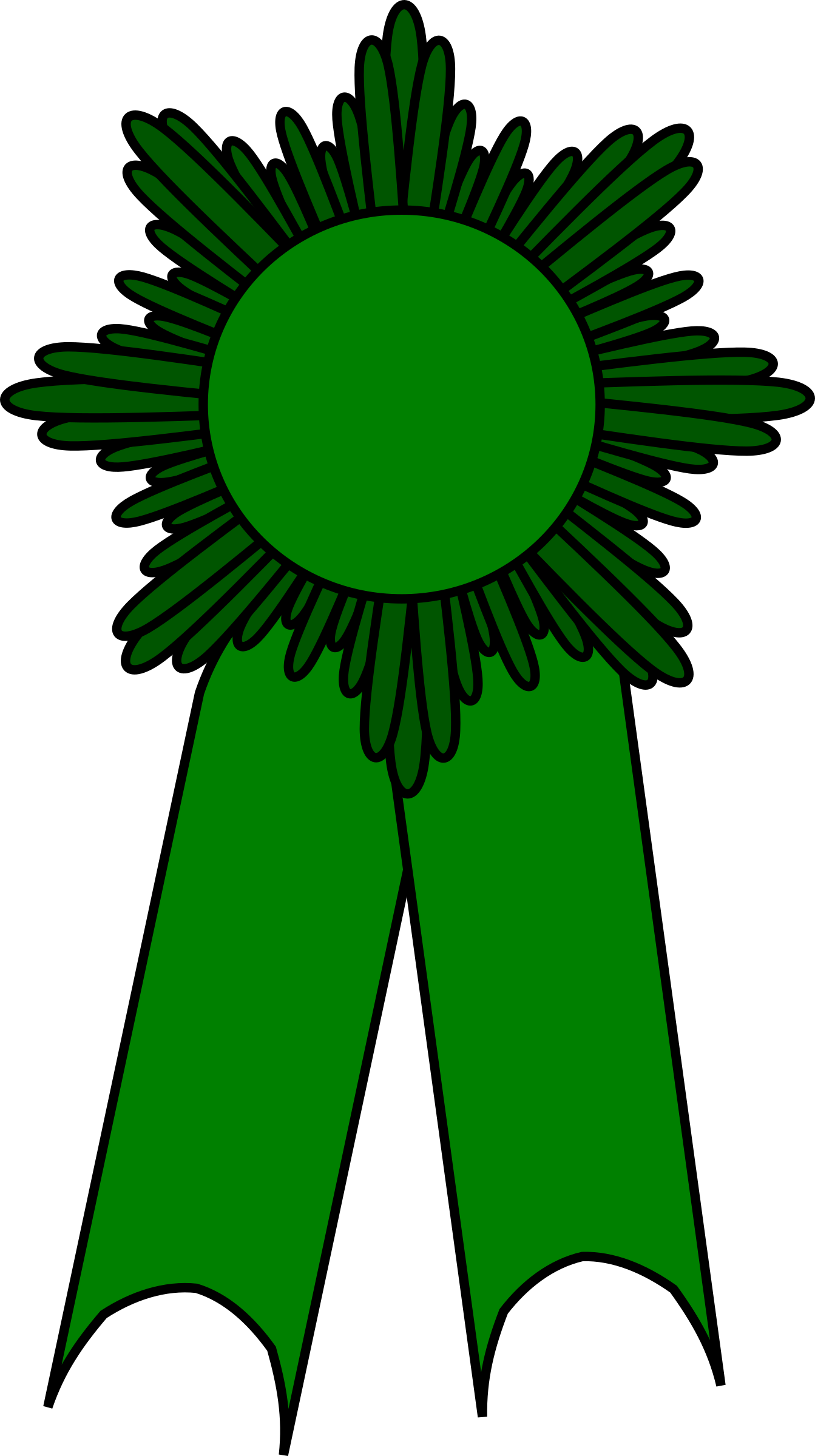 prize ribbon green by barnheartowl