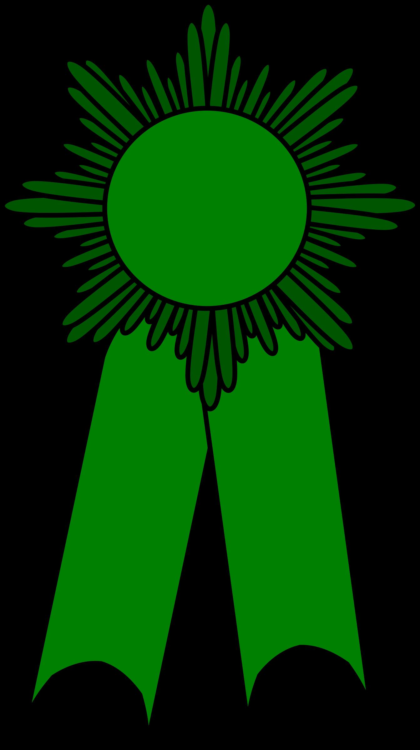 Clipart - prize ribbon green