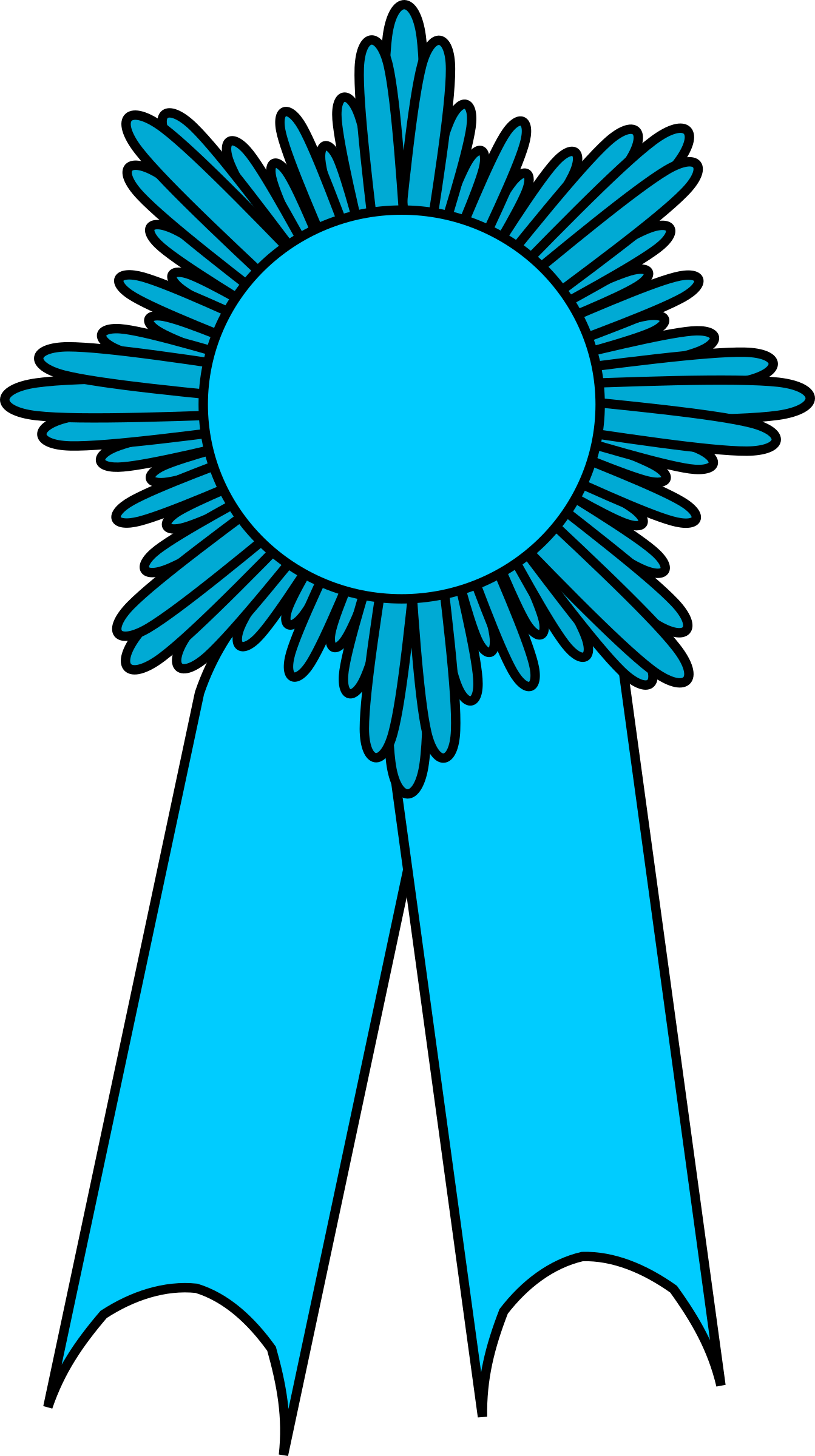 prize ribbon light blue by barnheartowl