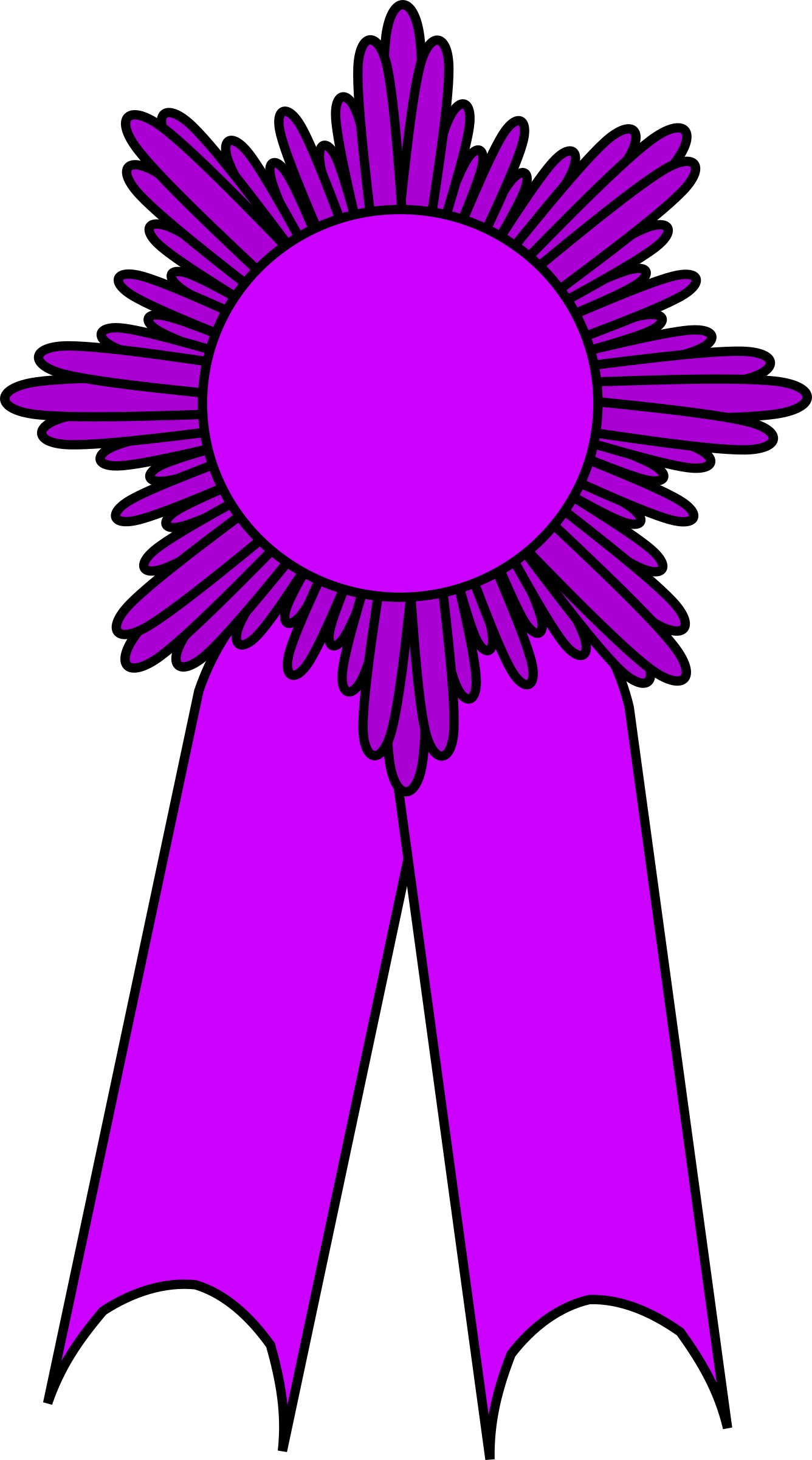 prize ribbon purple by barnheartowl