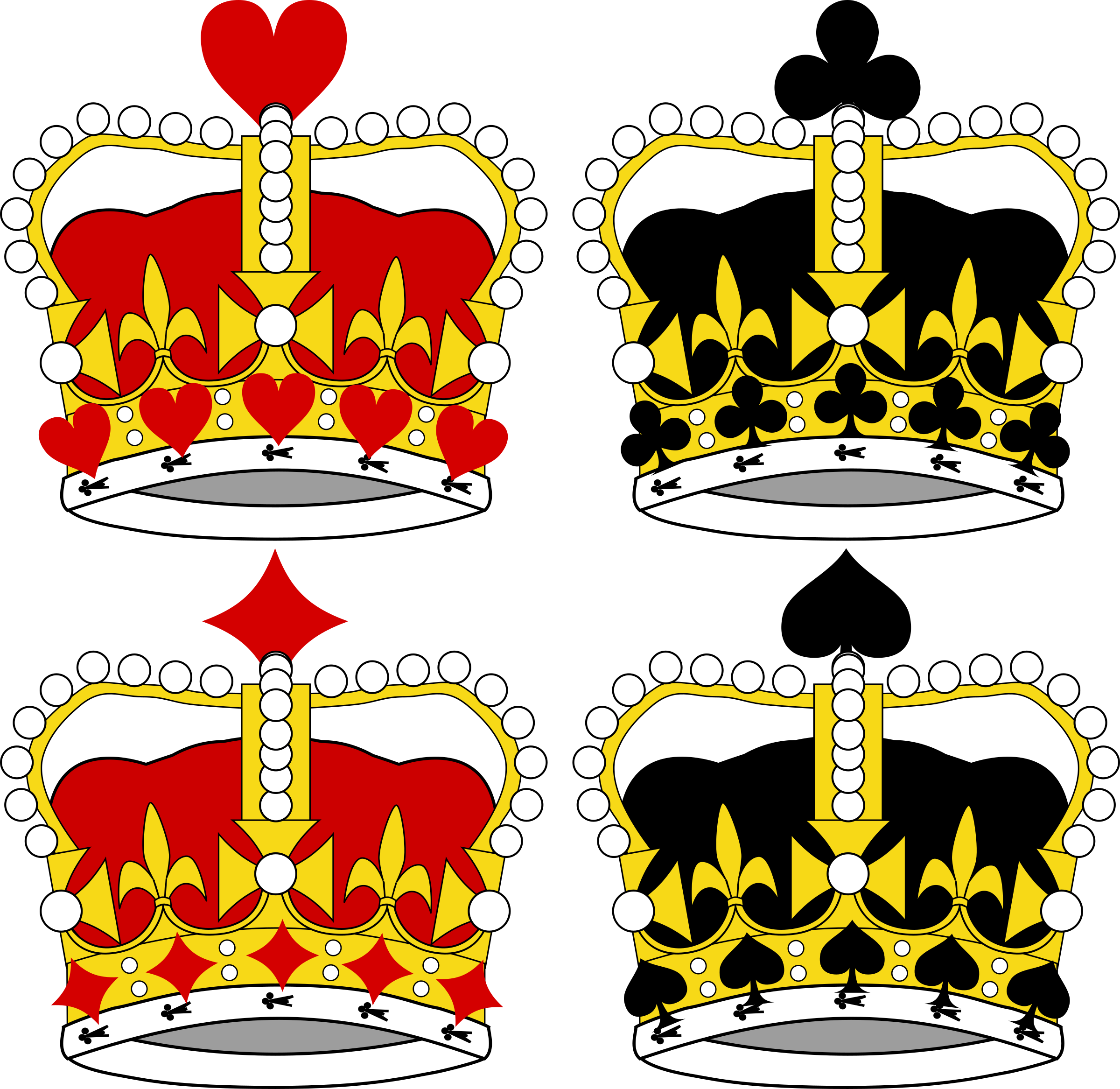 Stylized Crowns for Card Faces by momoko