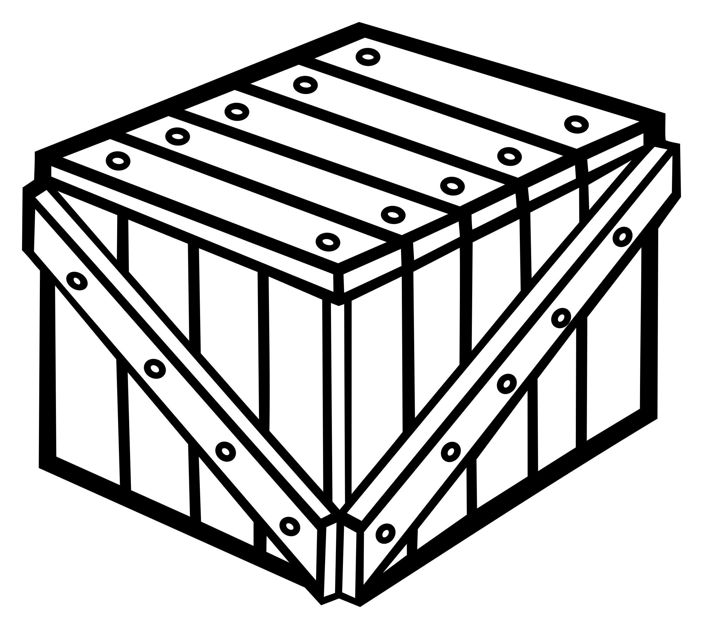crate - lineart by frankes