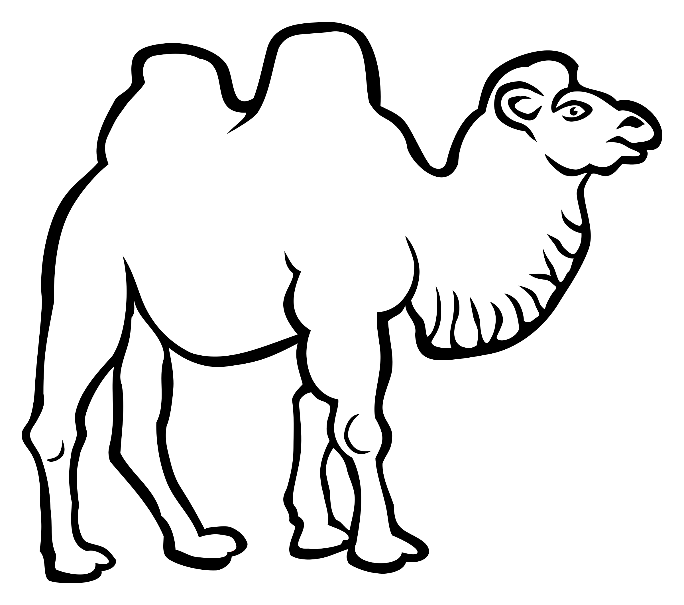 camel - lineart by frankes