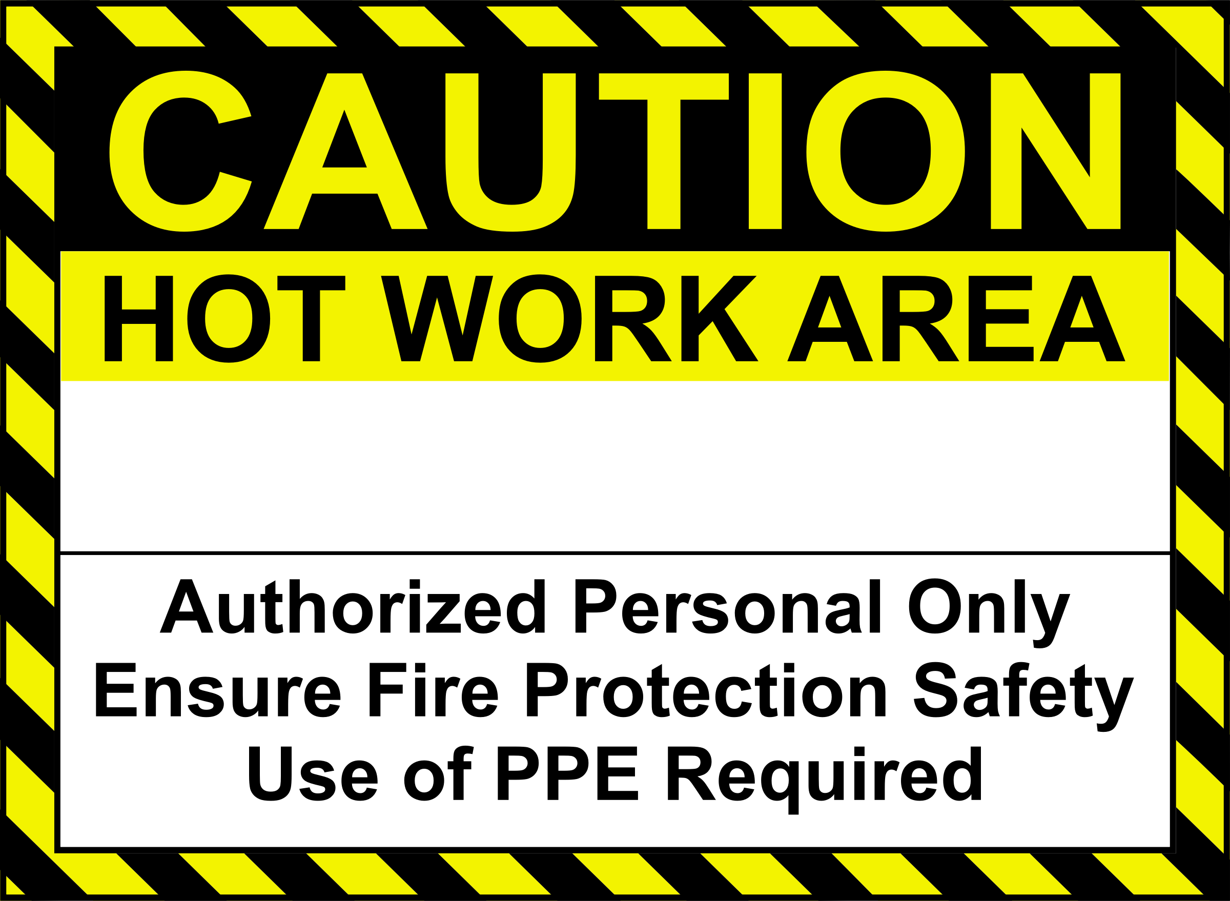 Hot Work Sign by Arvin61r58