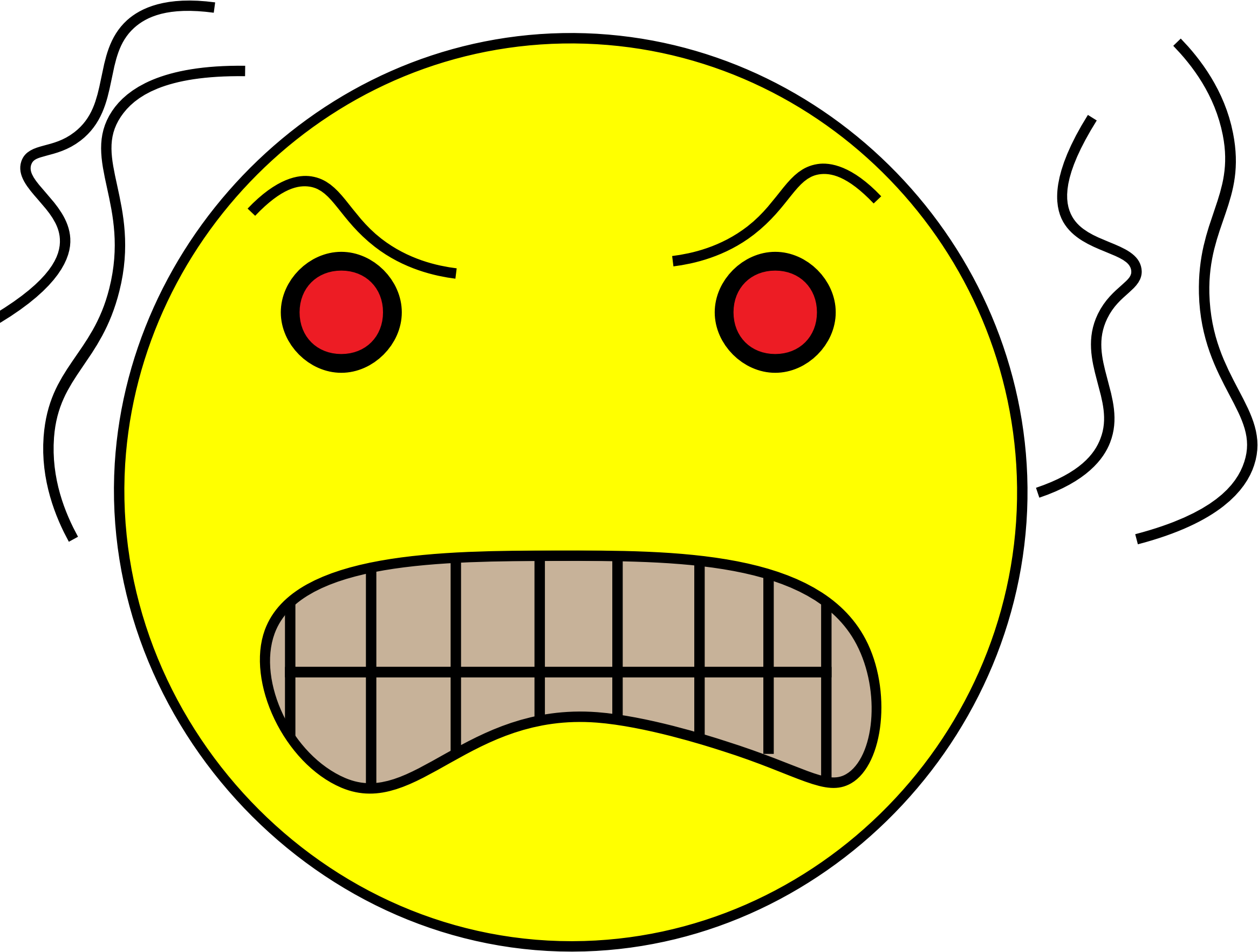Yellow Angry Head by caliebschacher
