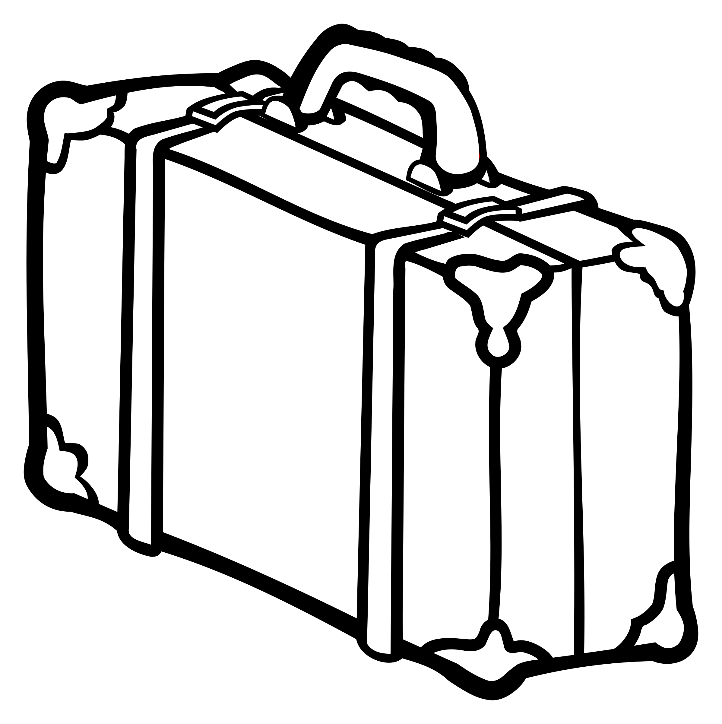 suitcase - lineart by frankes