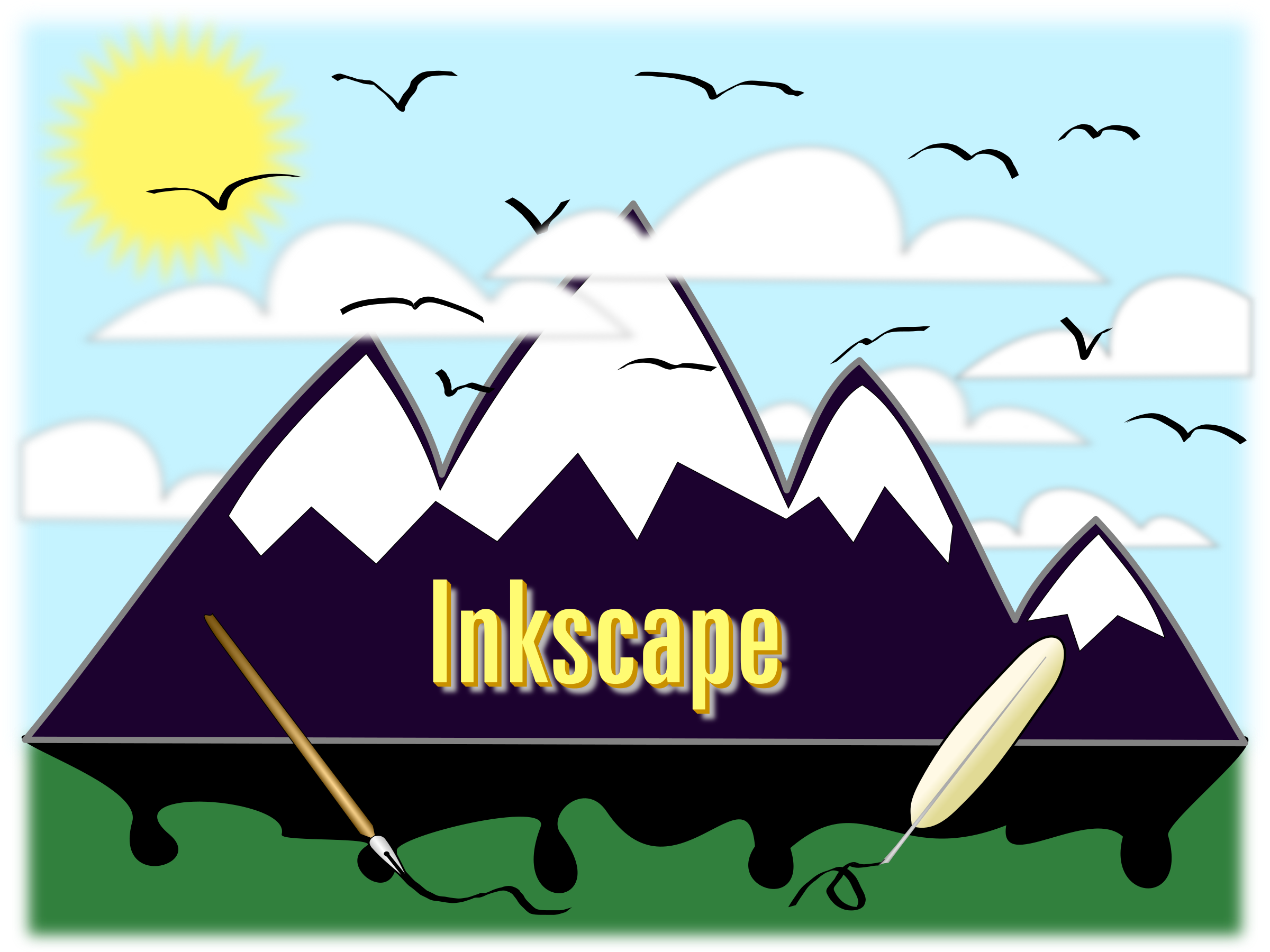 Inkscape Landscape 1 by Sonshine_Penguin