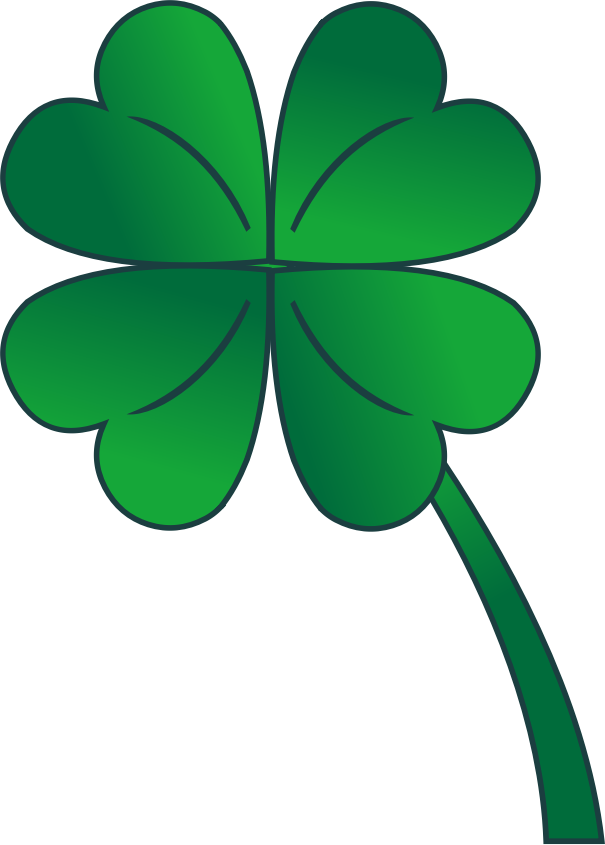 4 Leaf Clover Gradient by staradrael