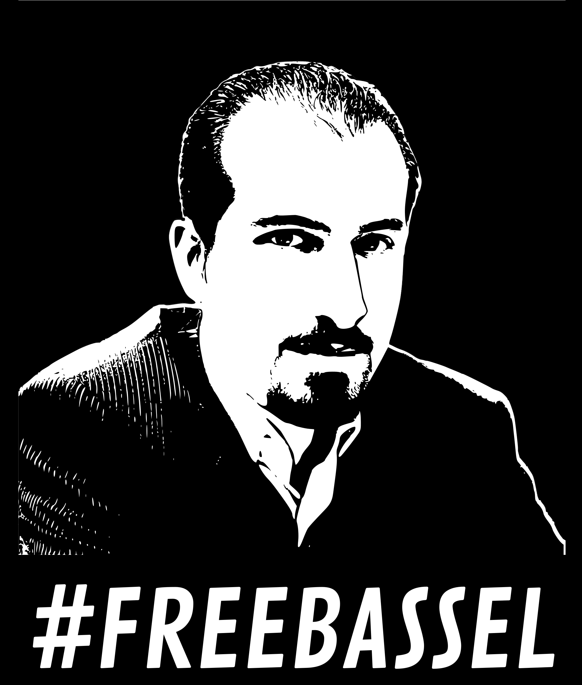 Freebassel black and white poster by dominiquechappard