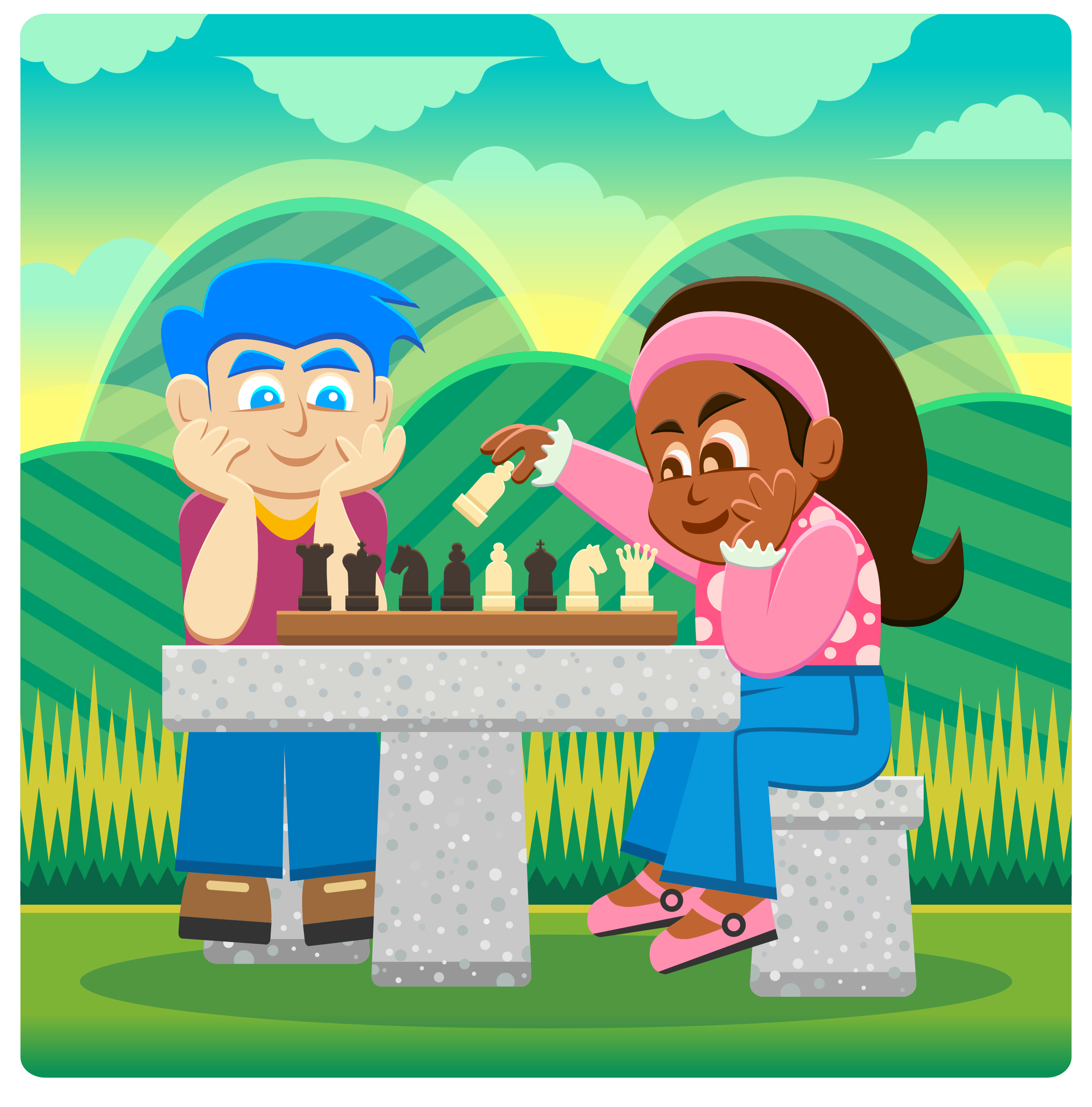 Kids Playing Chess 2 by Viscious-Speed
