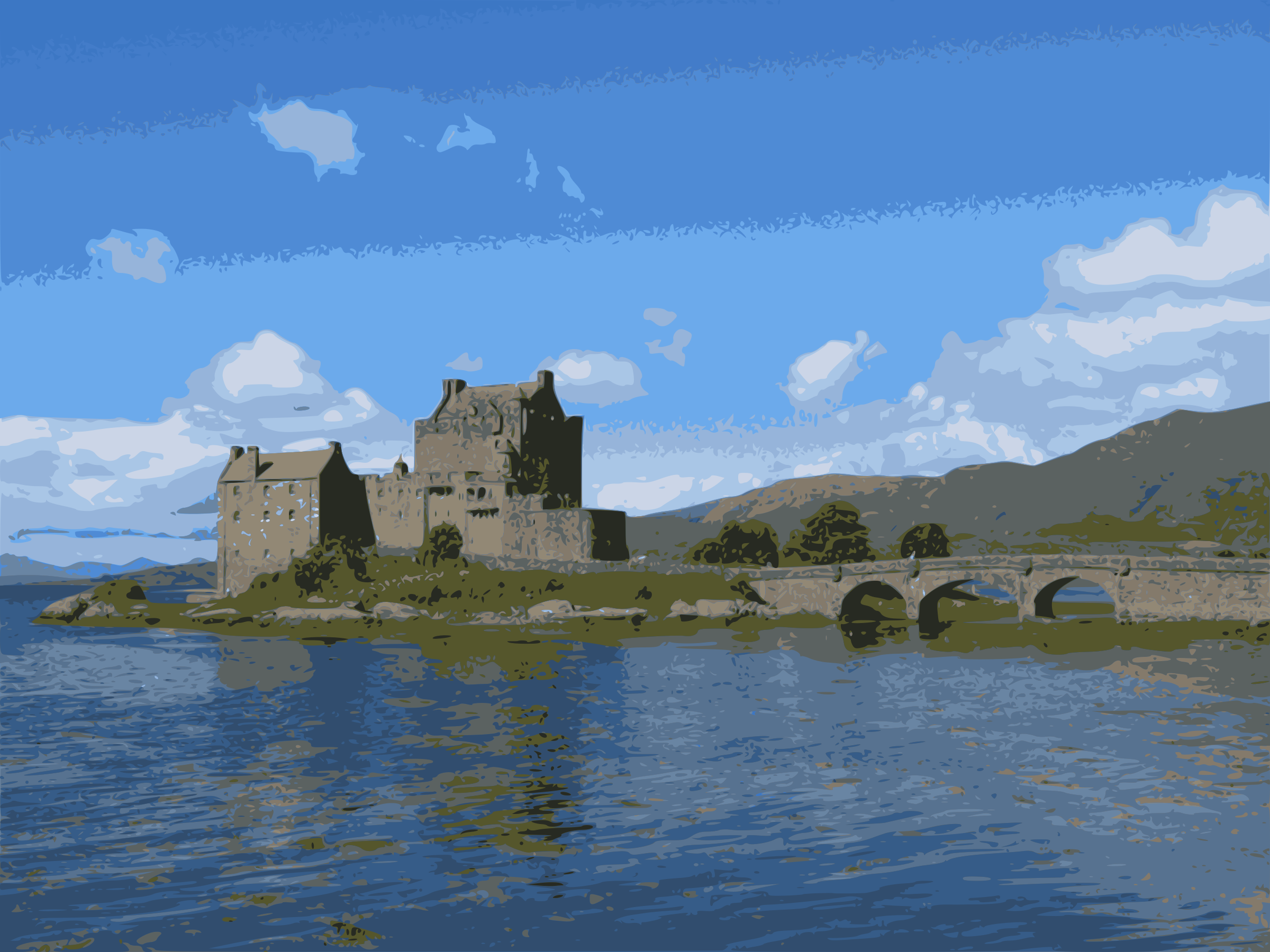 Eilean Donan Castle, Scotland, UK by Sonshine_Penguin