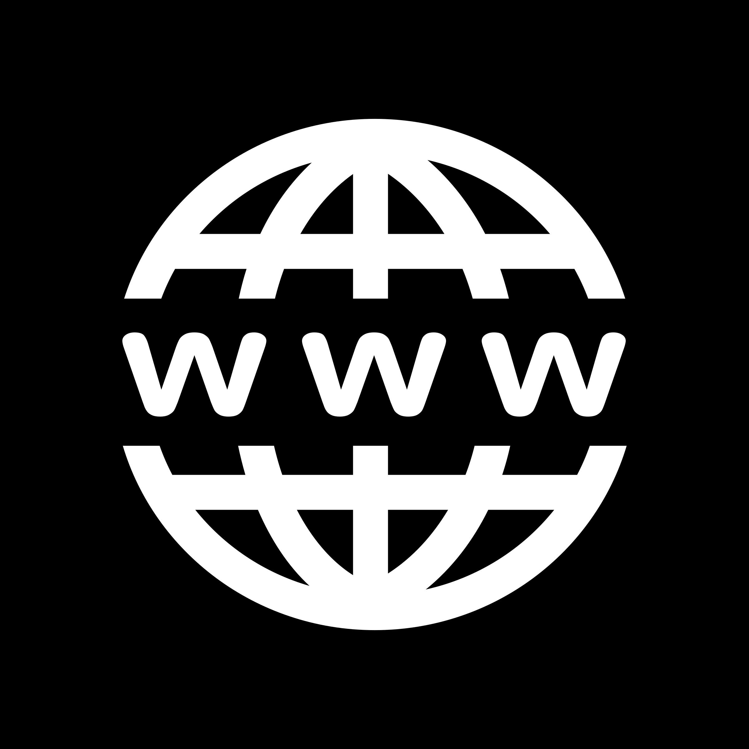 Clipart - WWW Icon - White on Black