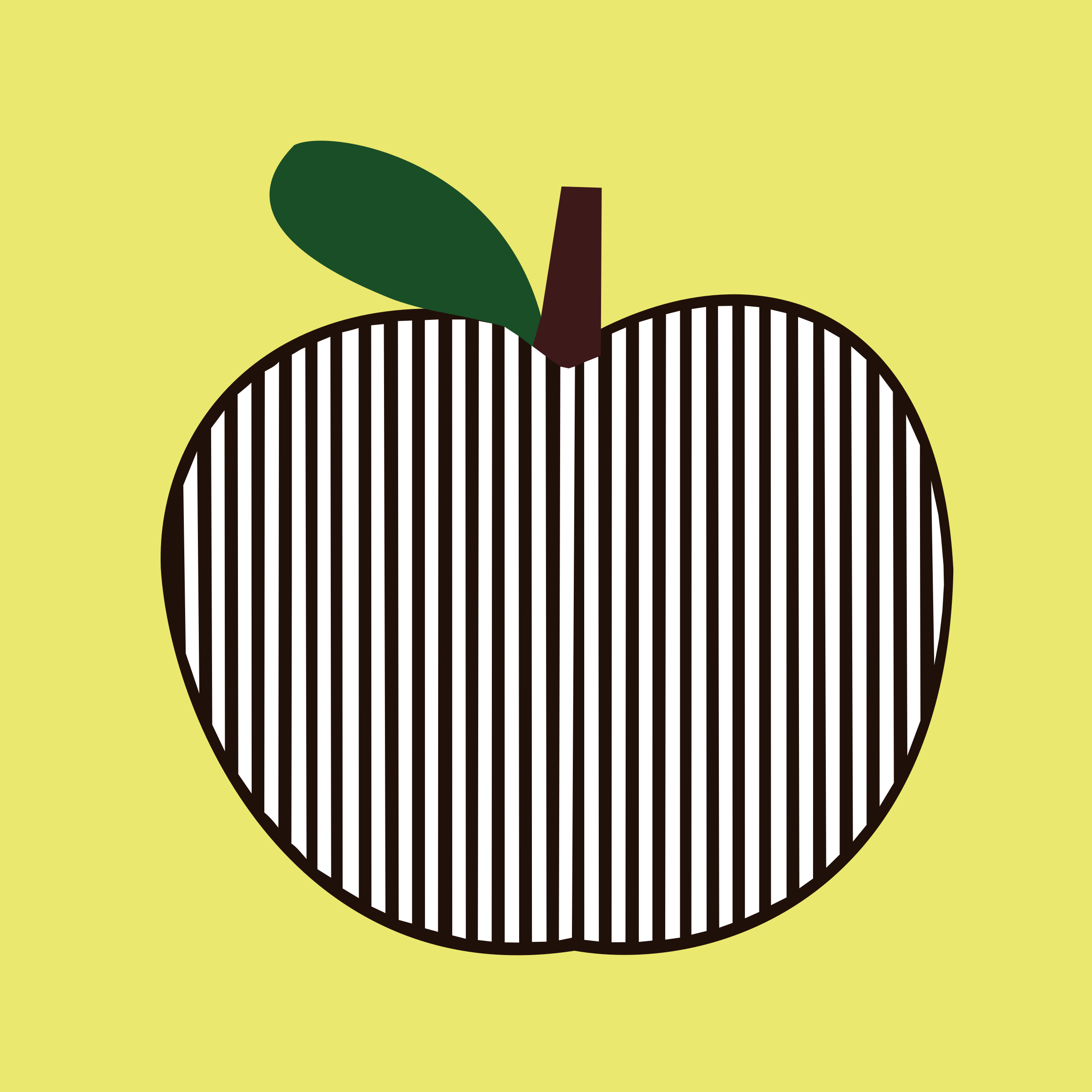 Clipart - apple striped