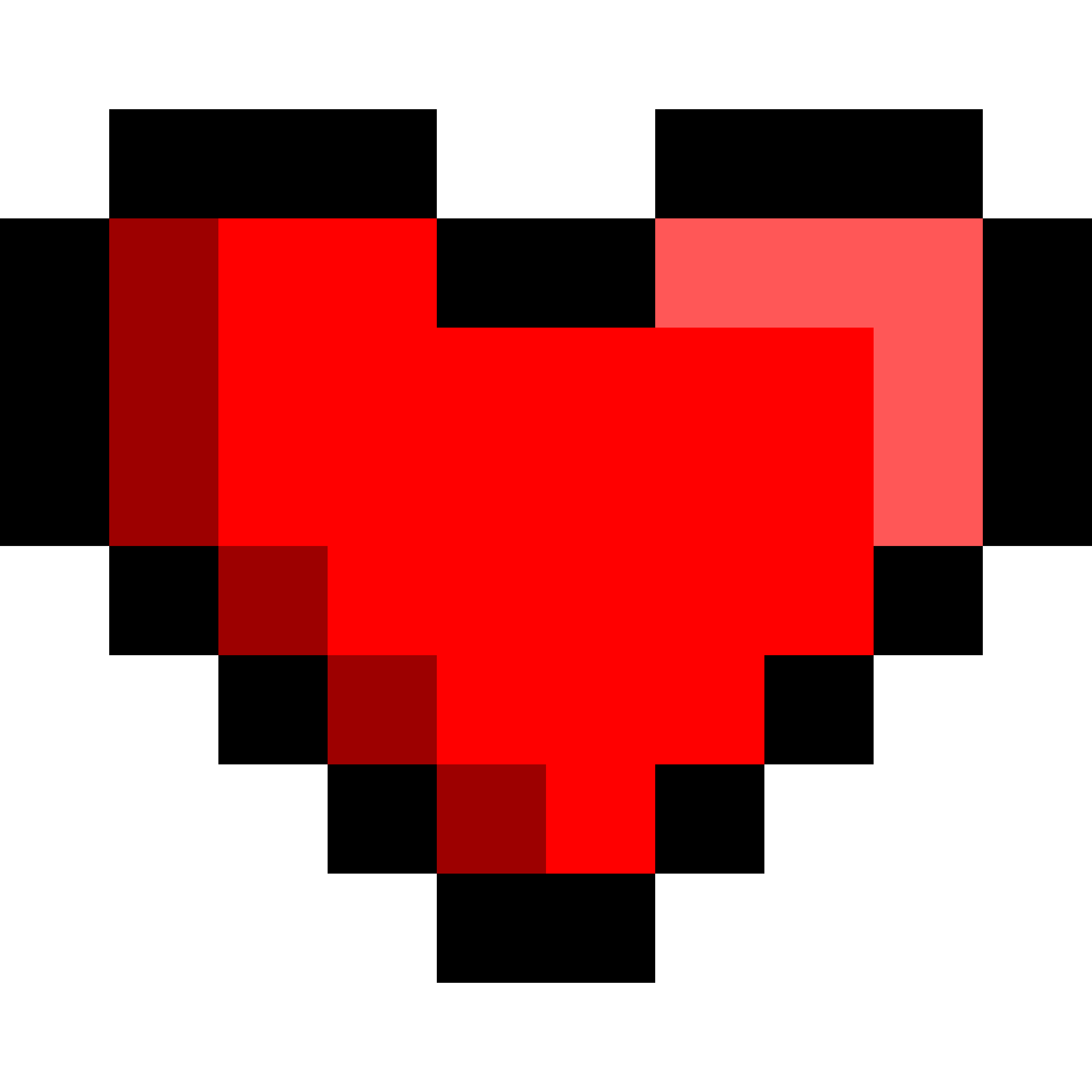 clipart 8bit heart