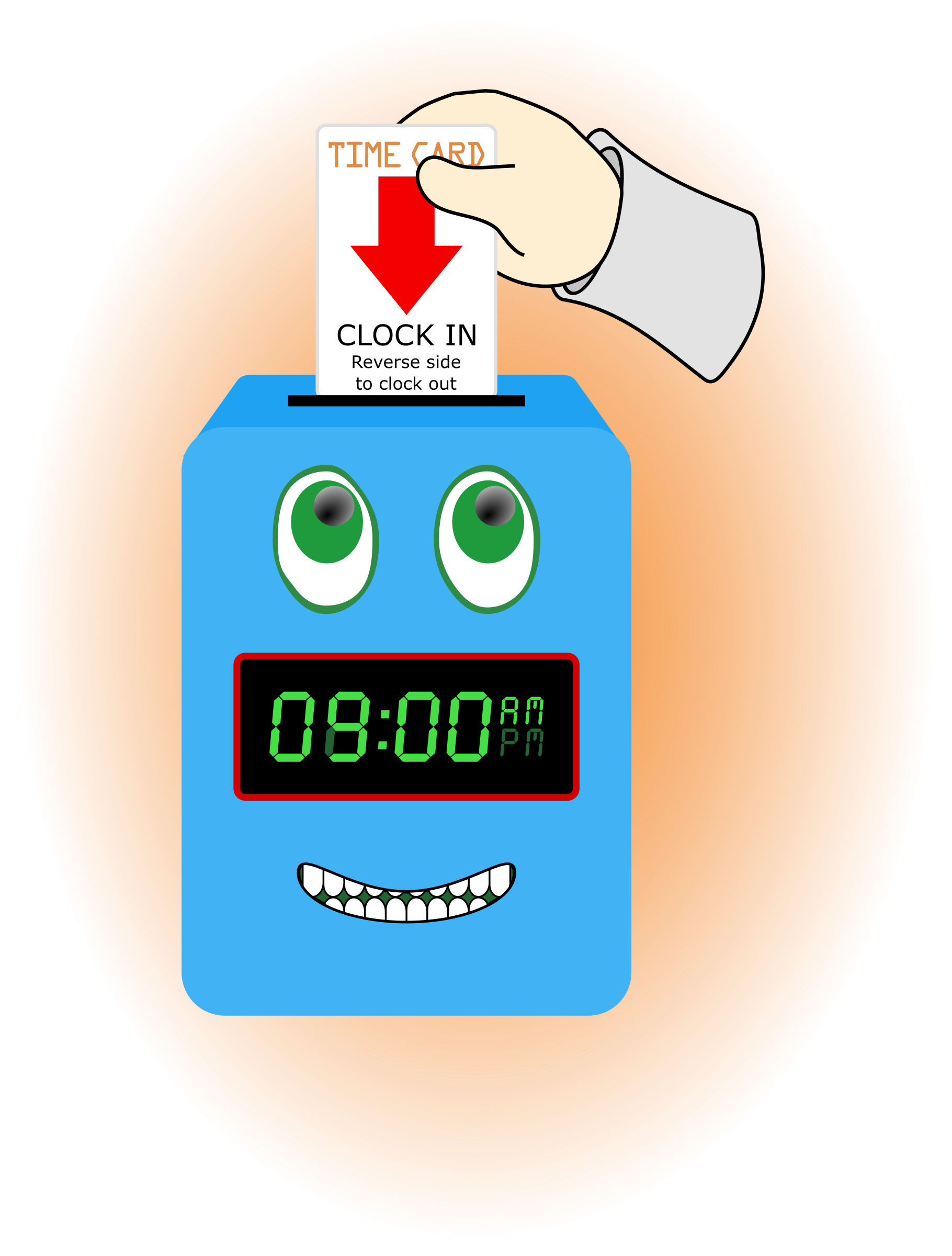 Happy Time Clock by Arvin61r58