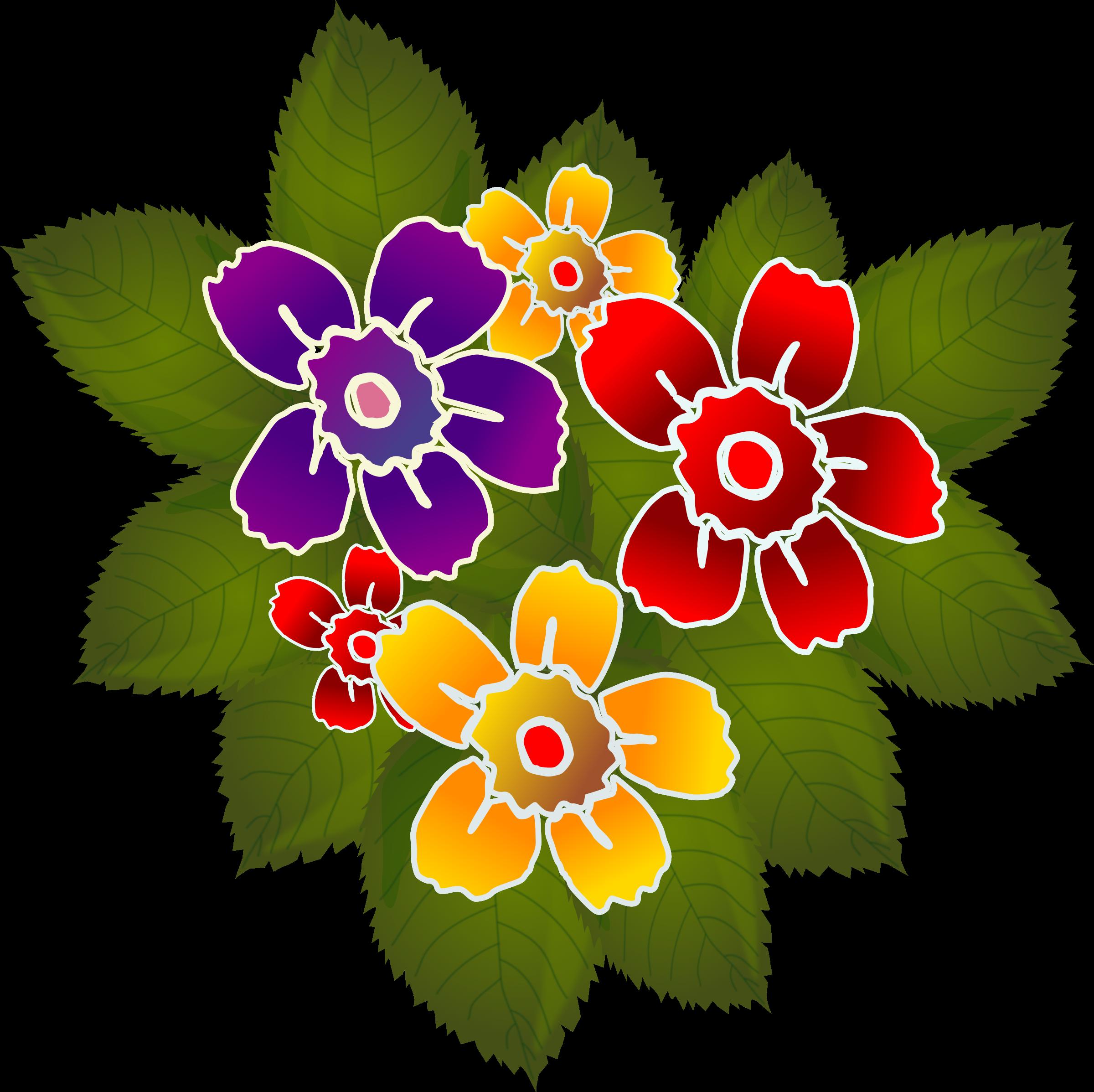 Clipart - Flores Flowers