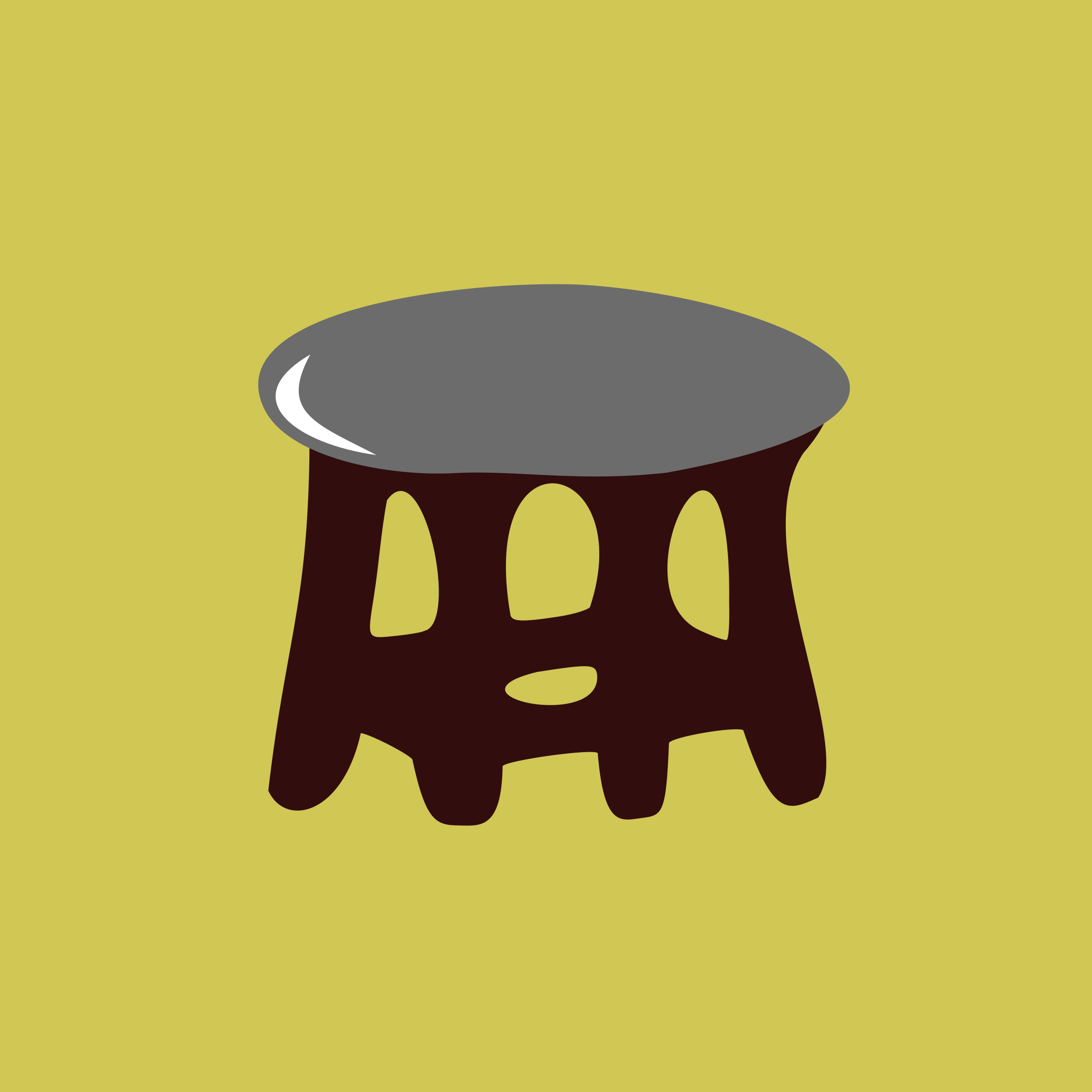 stool-gray by yamachem