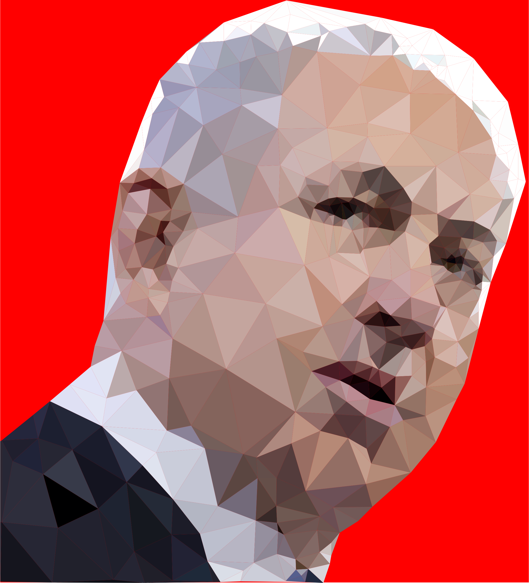 Benyamin Bibi Netanyahu Low Poly Portrait by GDJ