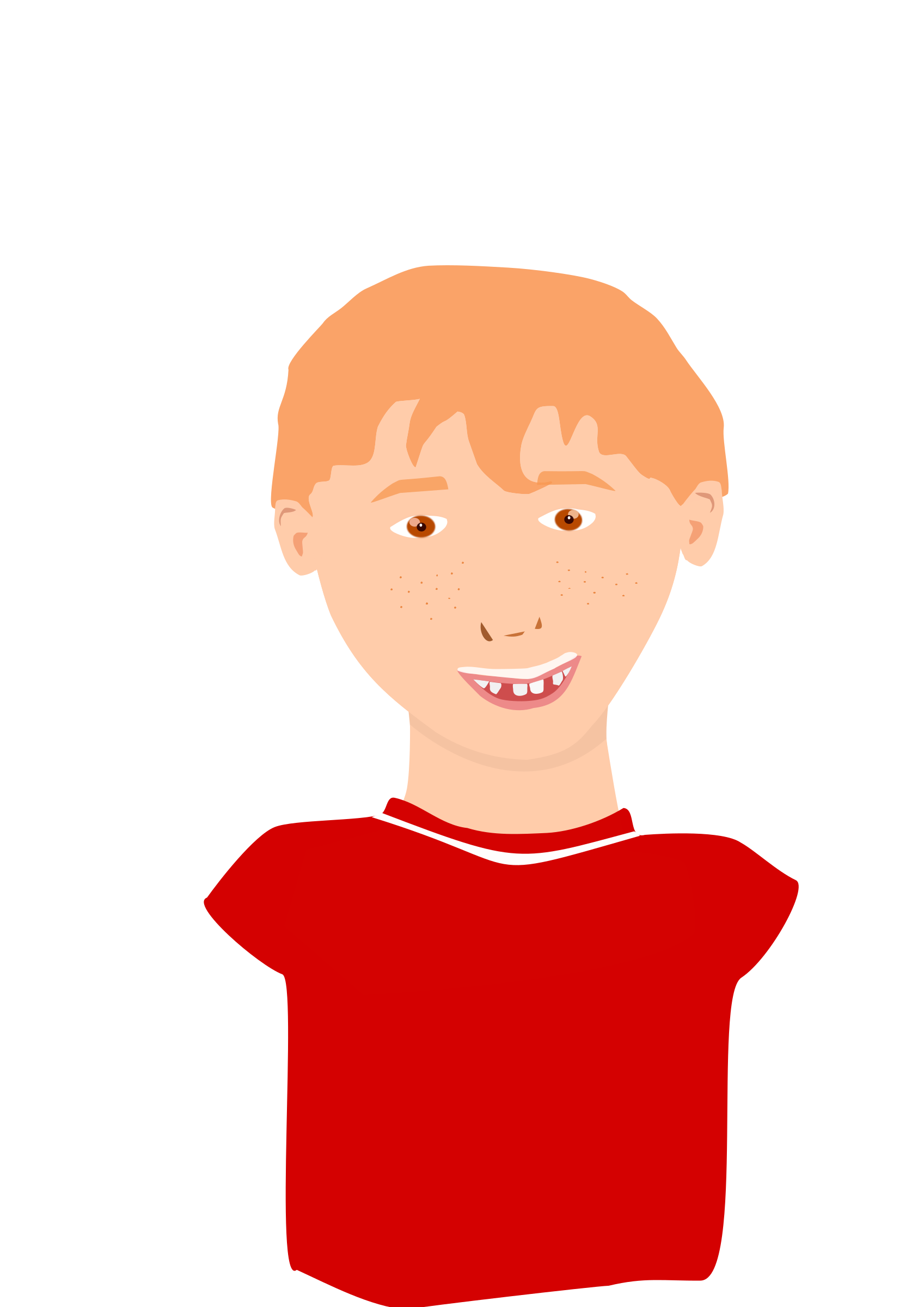 Red-hair boy smiling by ElodieVentura