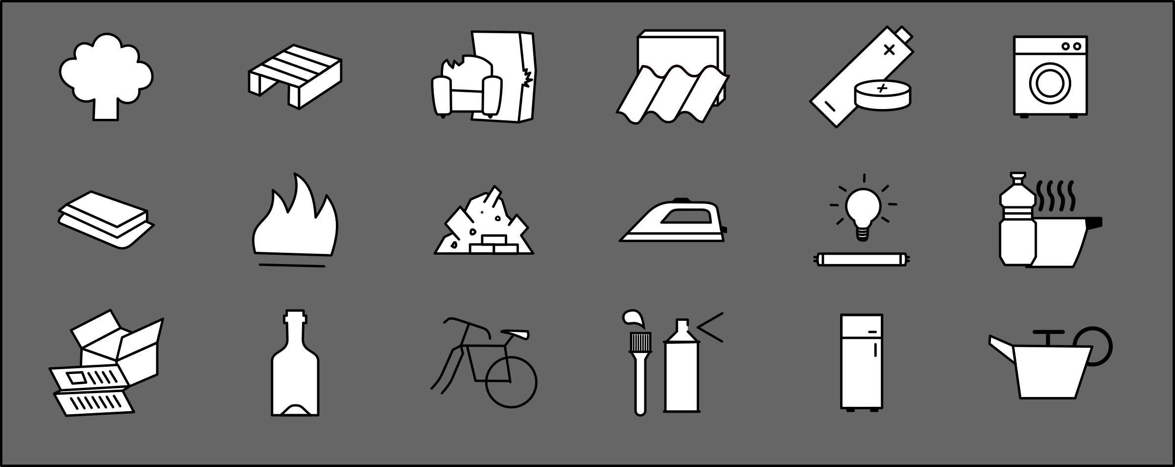 Rubbish types symbols by cyberscooty