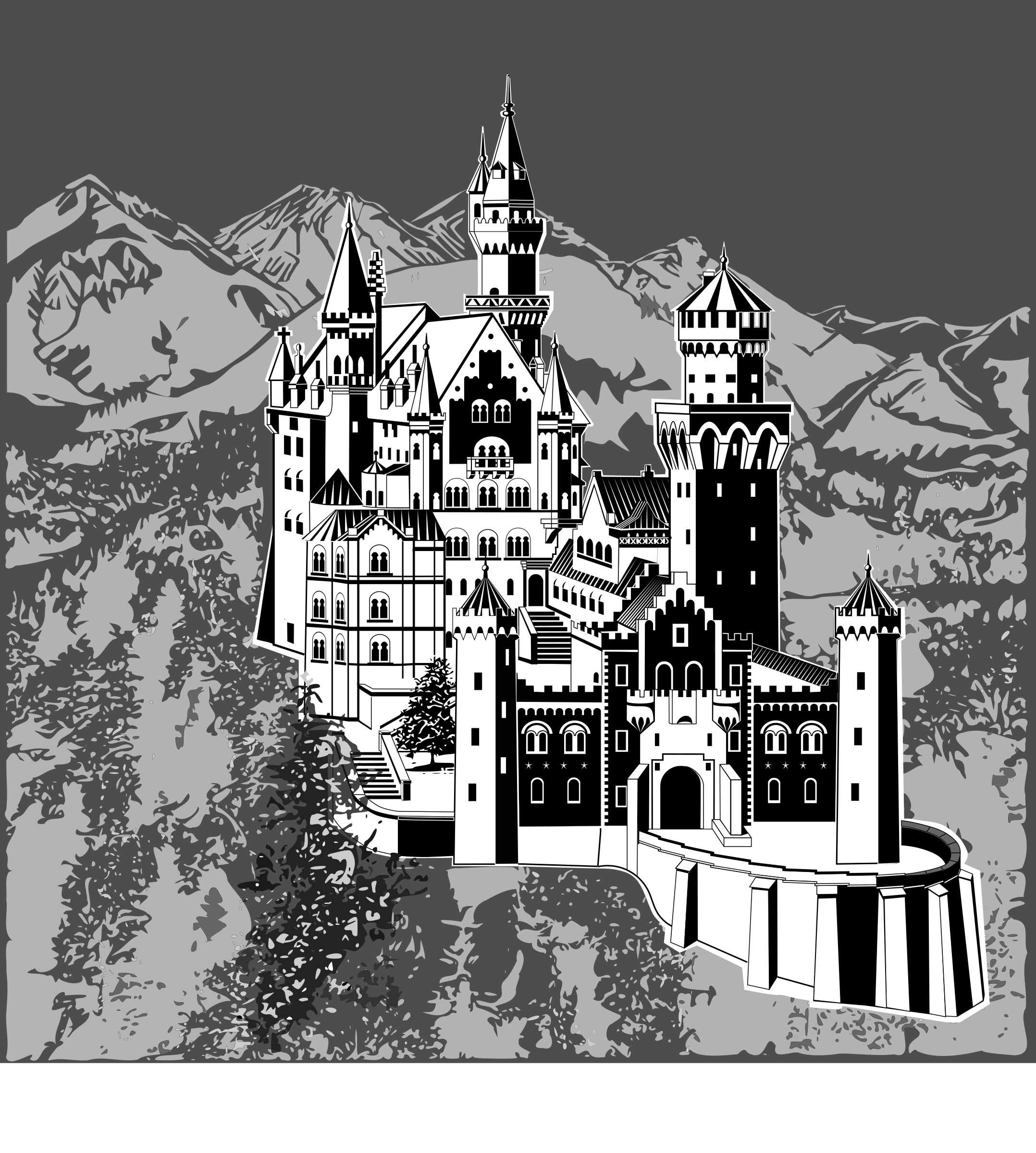 Castle with background by Helm42