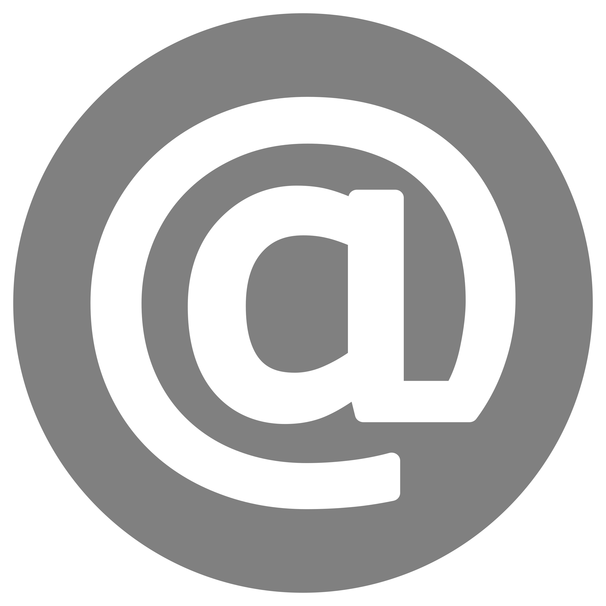 Email Icon - White on Grey by rygle