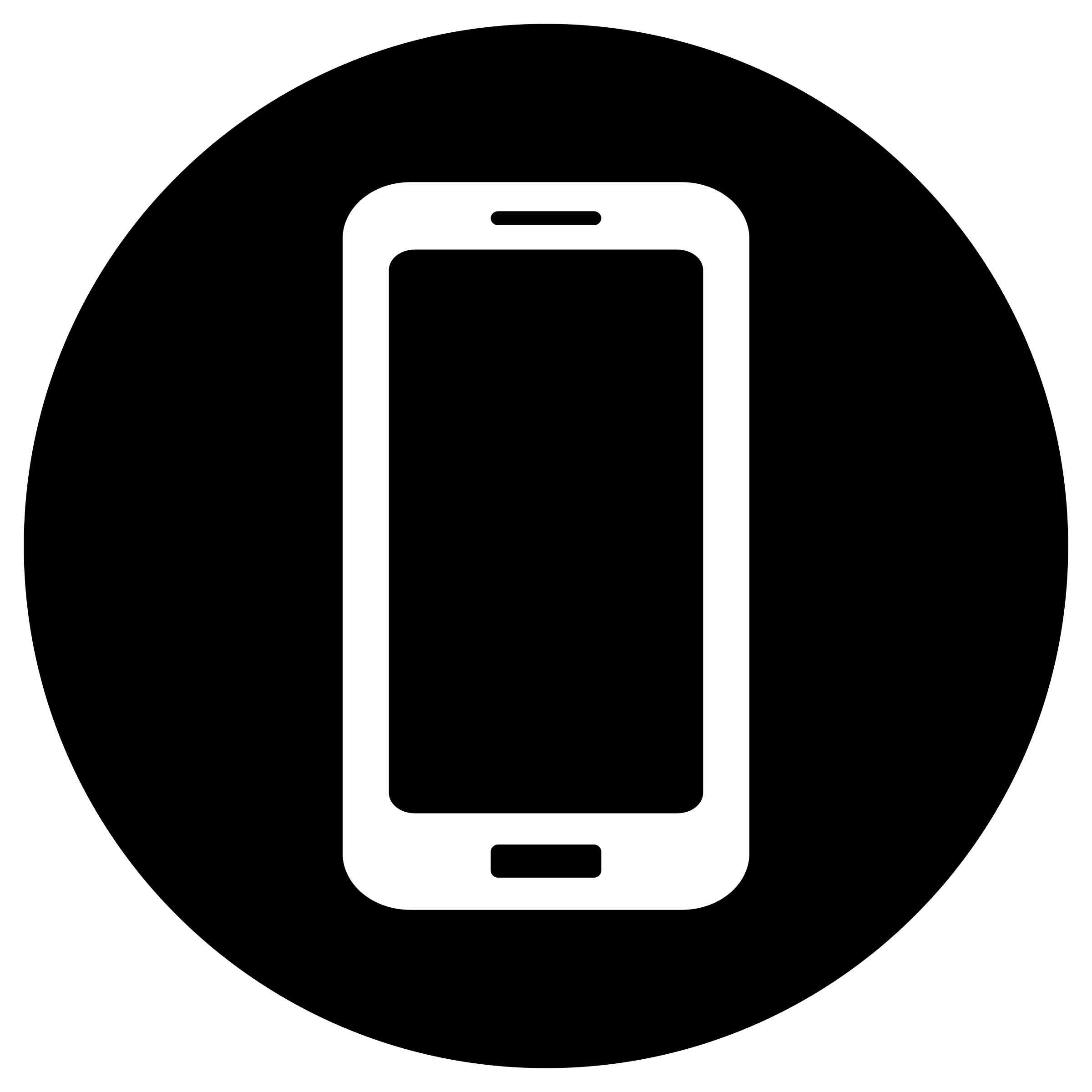 Mobile Icon - White on Black by rygle