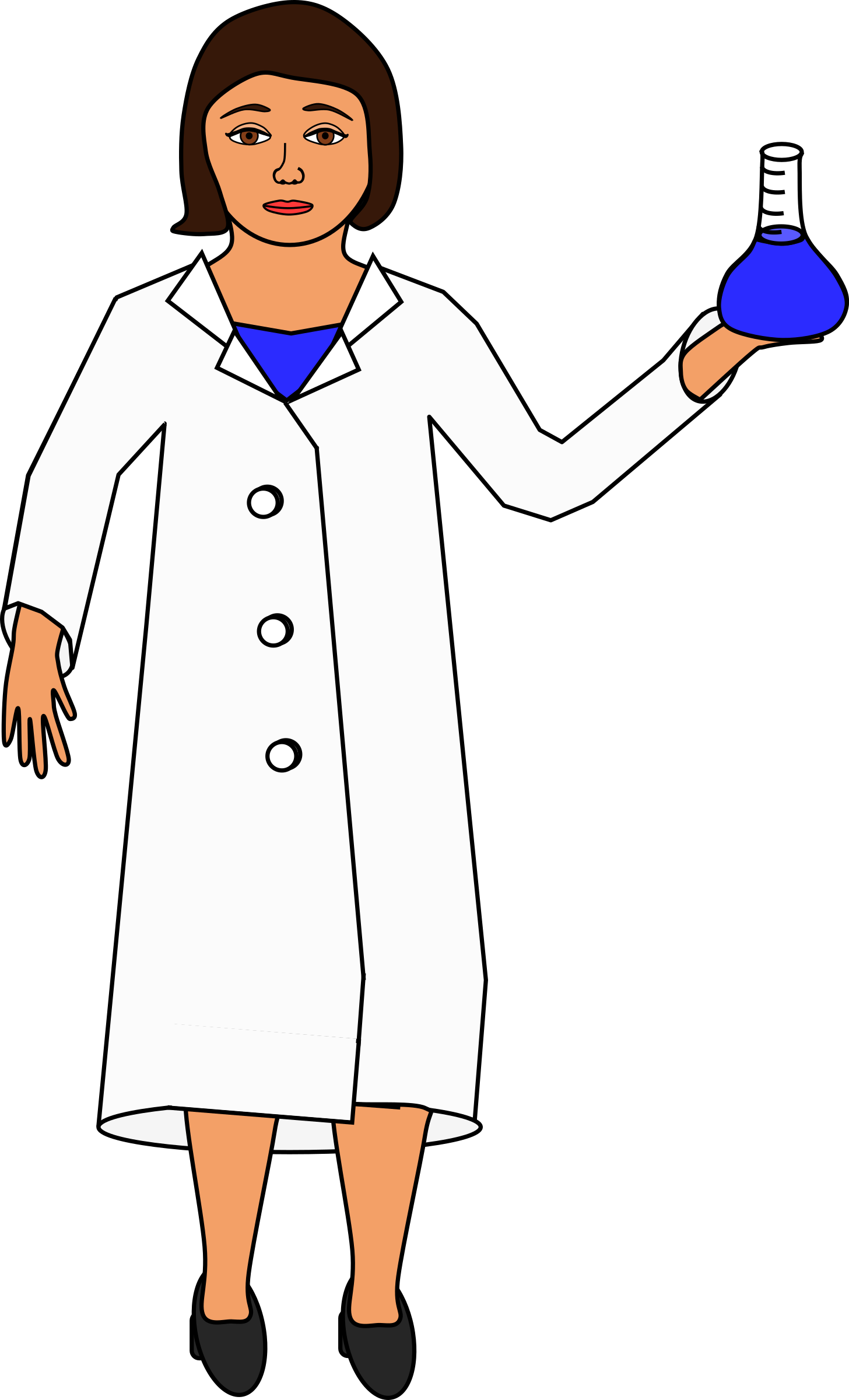 Scientist holding an erlenmeyer flask by barnheartowl
