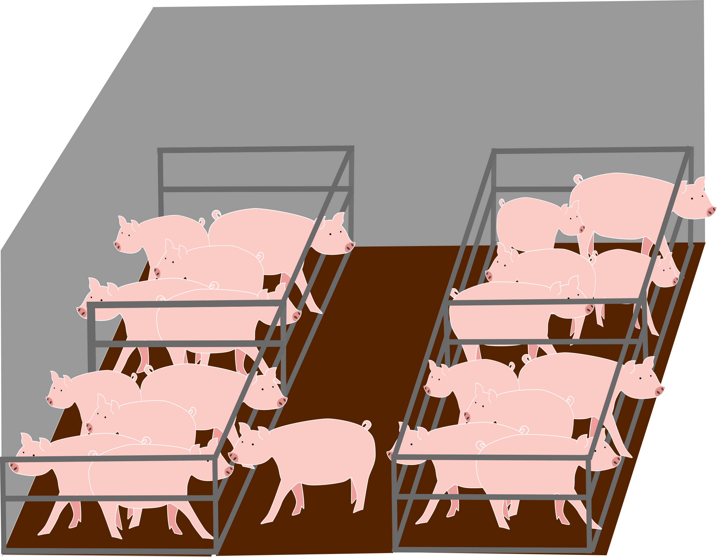Clipart inside pigs industrial farm a l 39 int rieur d 39 un for Inside a l interieur